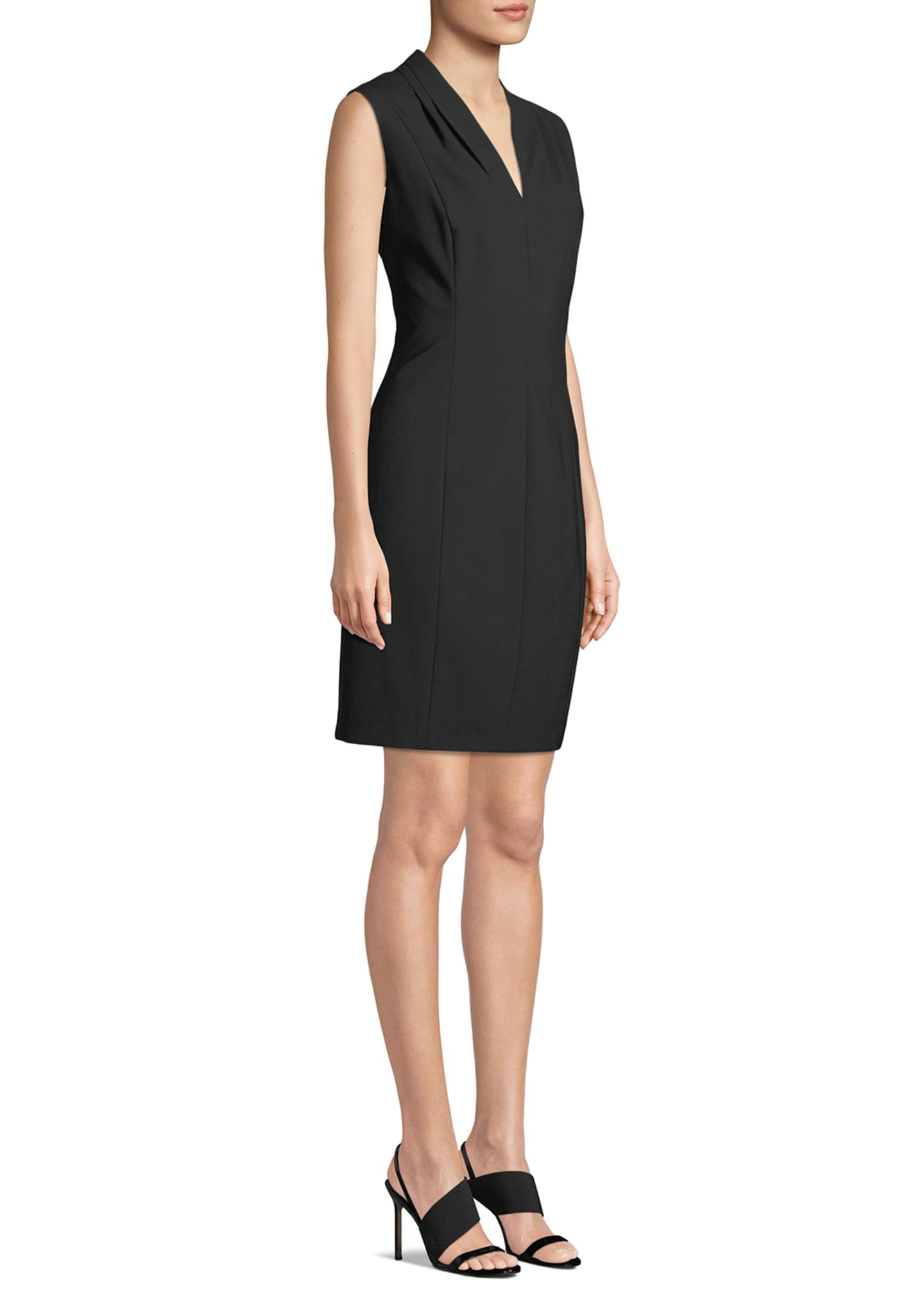 Image 3 of 3: Annabel Sleeveless V-Neck Shift Dress