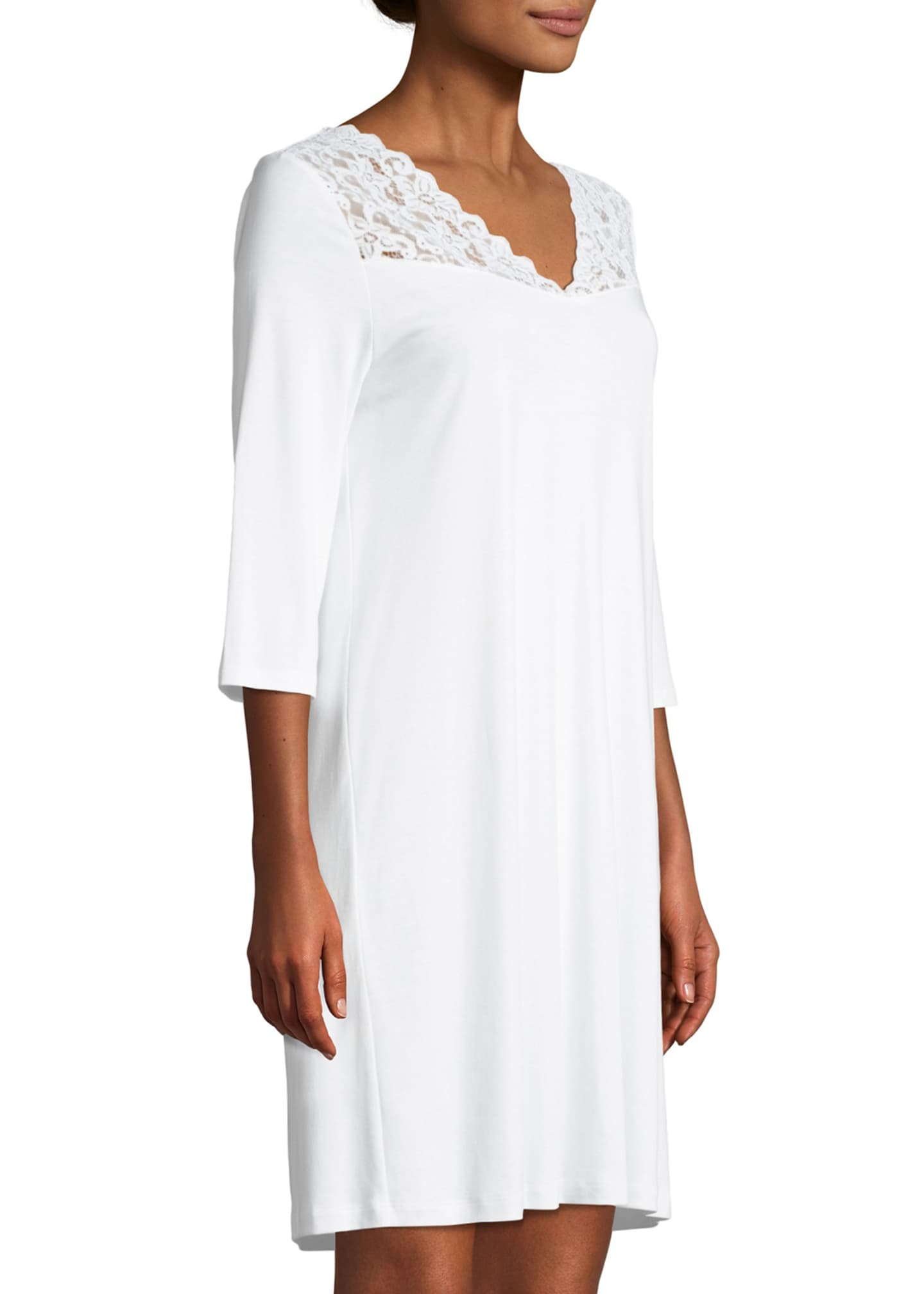 Image 3 of 3: Moments 3/4 Sleeve Nightgown