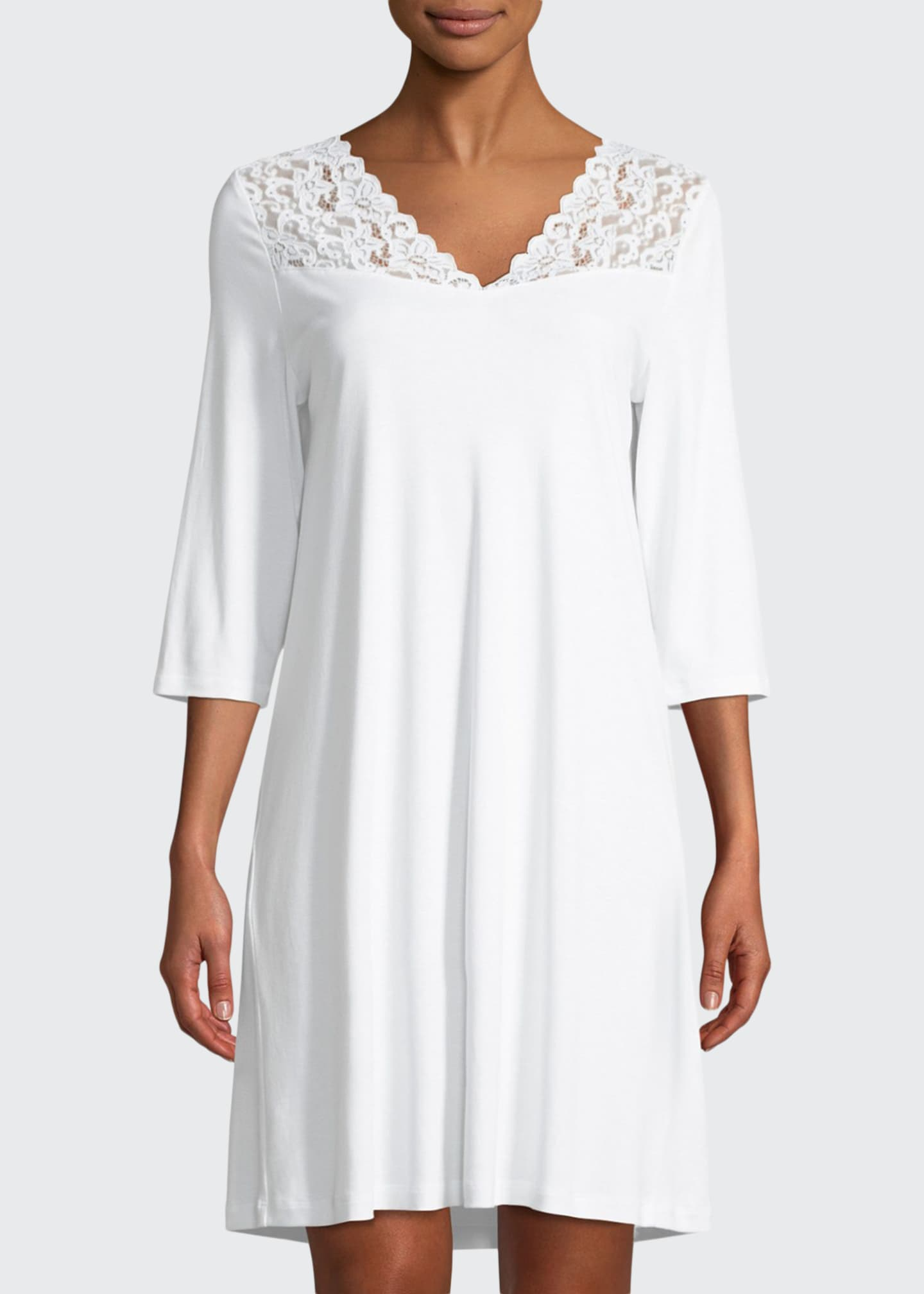 Image 1 of 3: Moments 3/4 Sleeve Nightgown