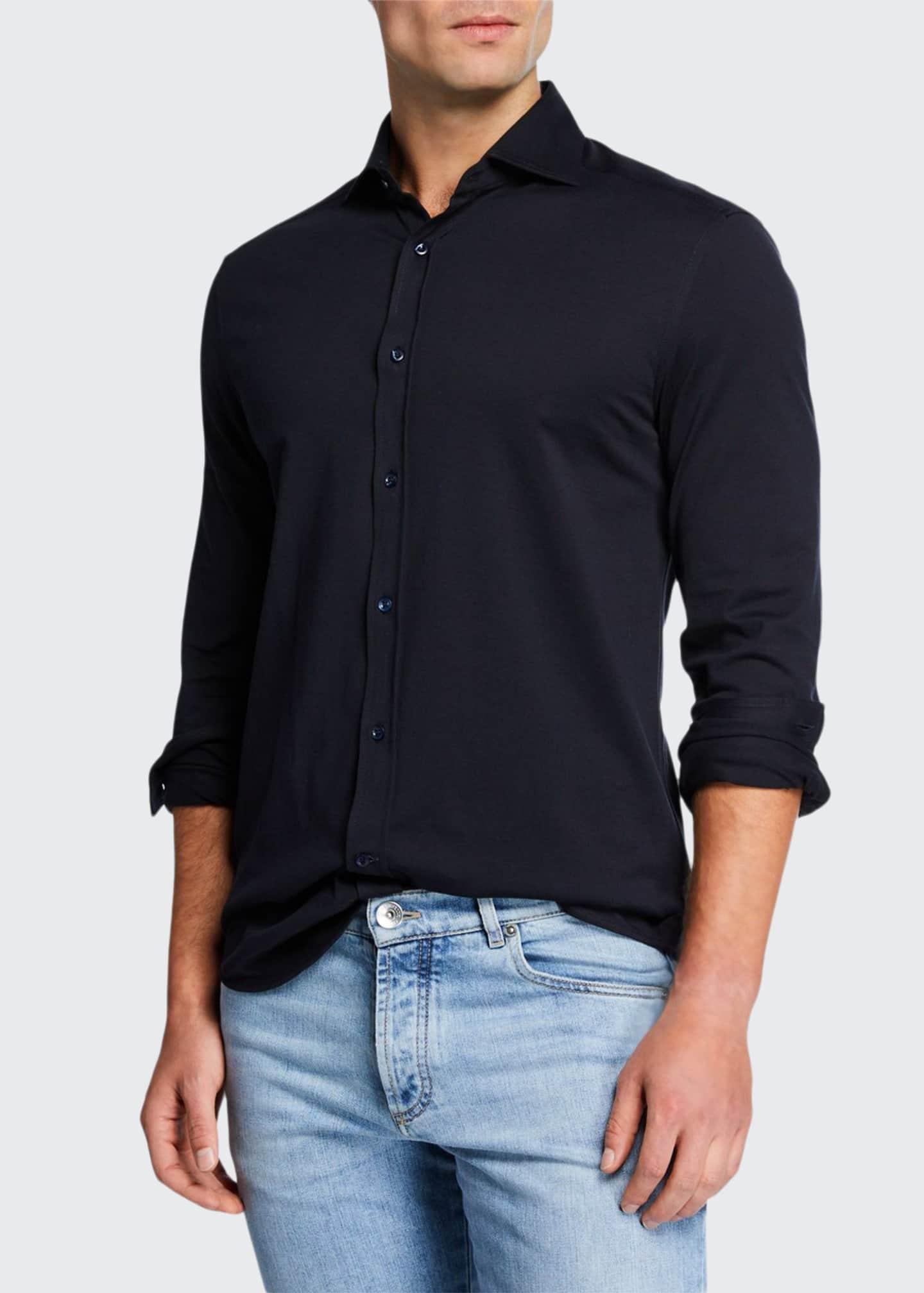 Brunello Cucinelli Men's Jersey Knit Sport Shirt