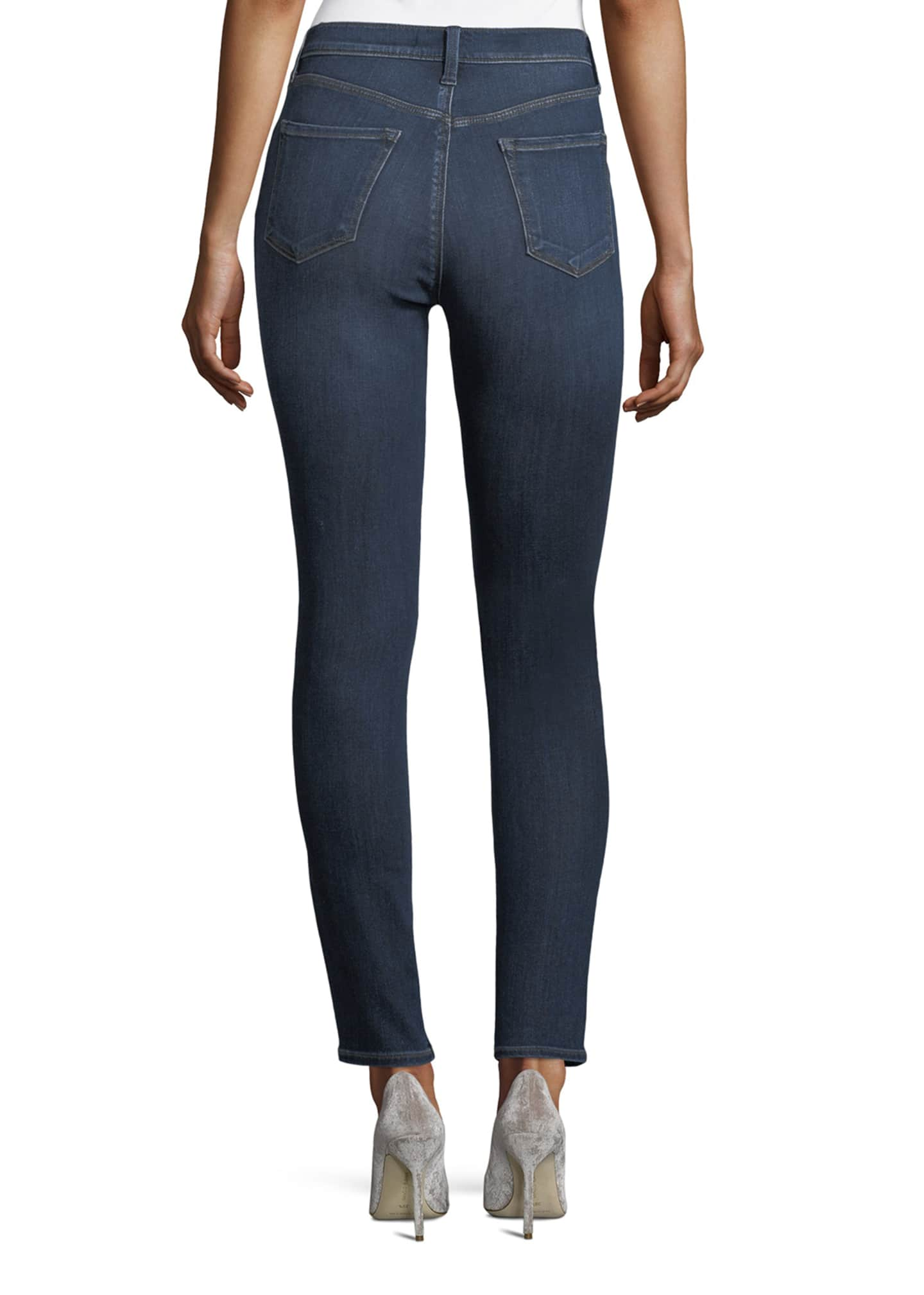 Image 2 of 3: Maria High-Rise Super-Skinny Jeans, Medium Blue