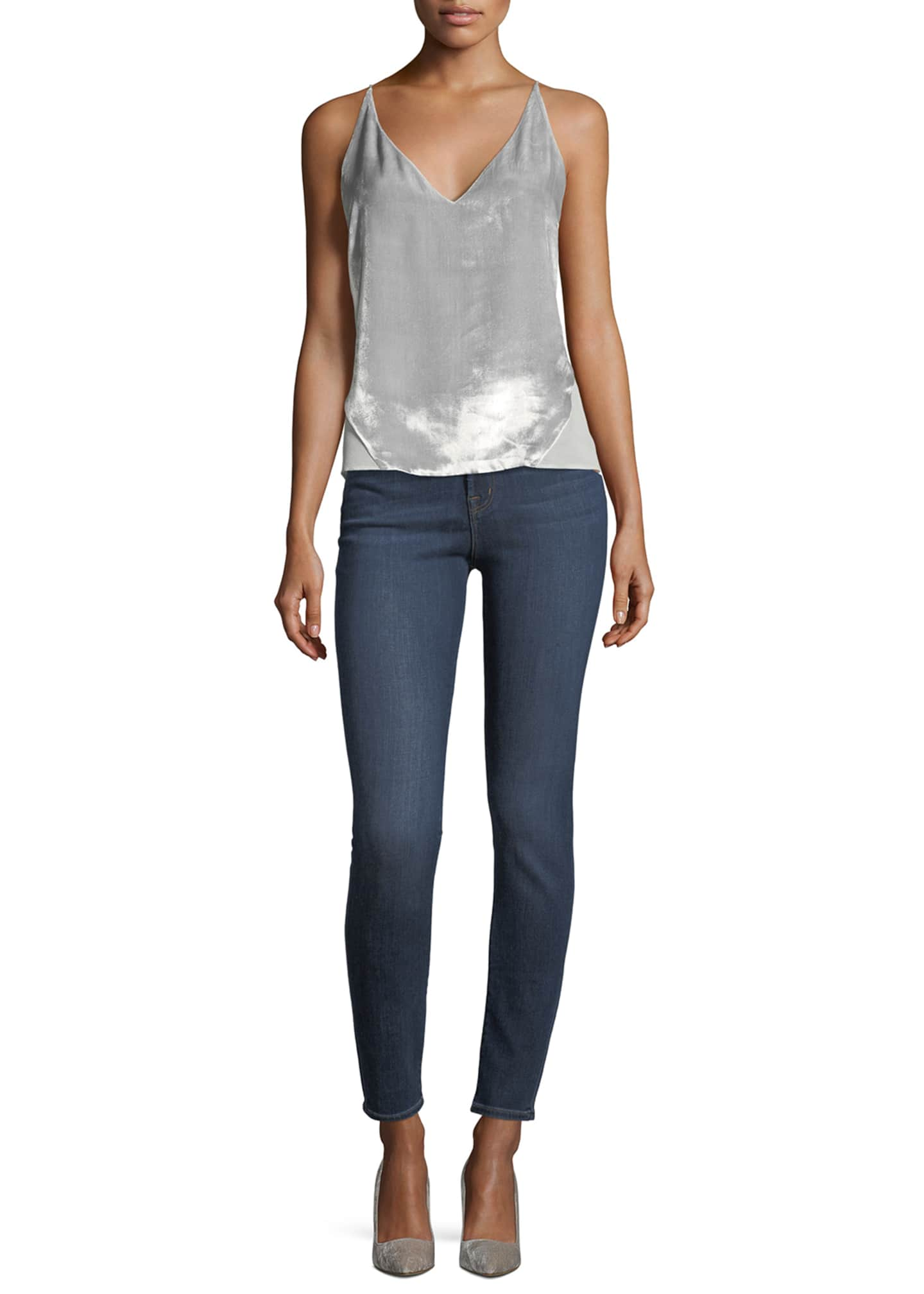 Image 3 of 3: Maria High-Rise Super-Skinny Jeans, Medium Blue