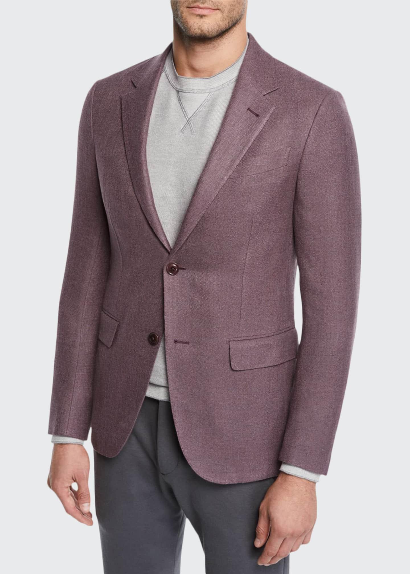 Ermenegildo Zegna Men's Button-Up Silk Blazer