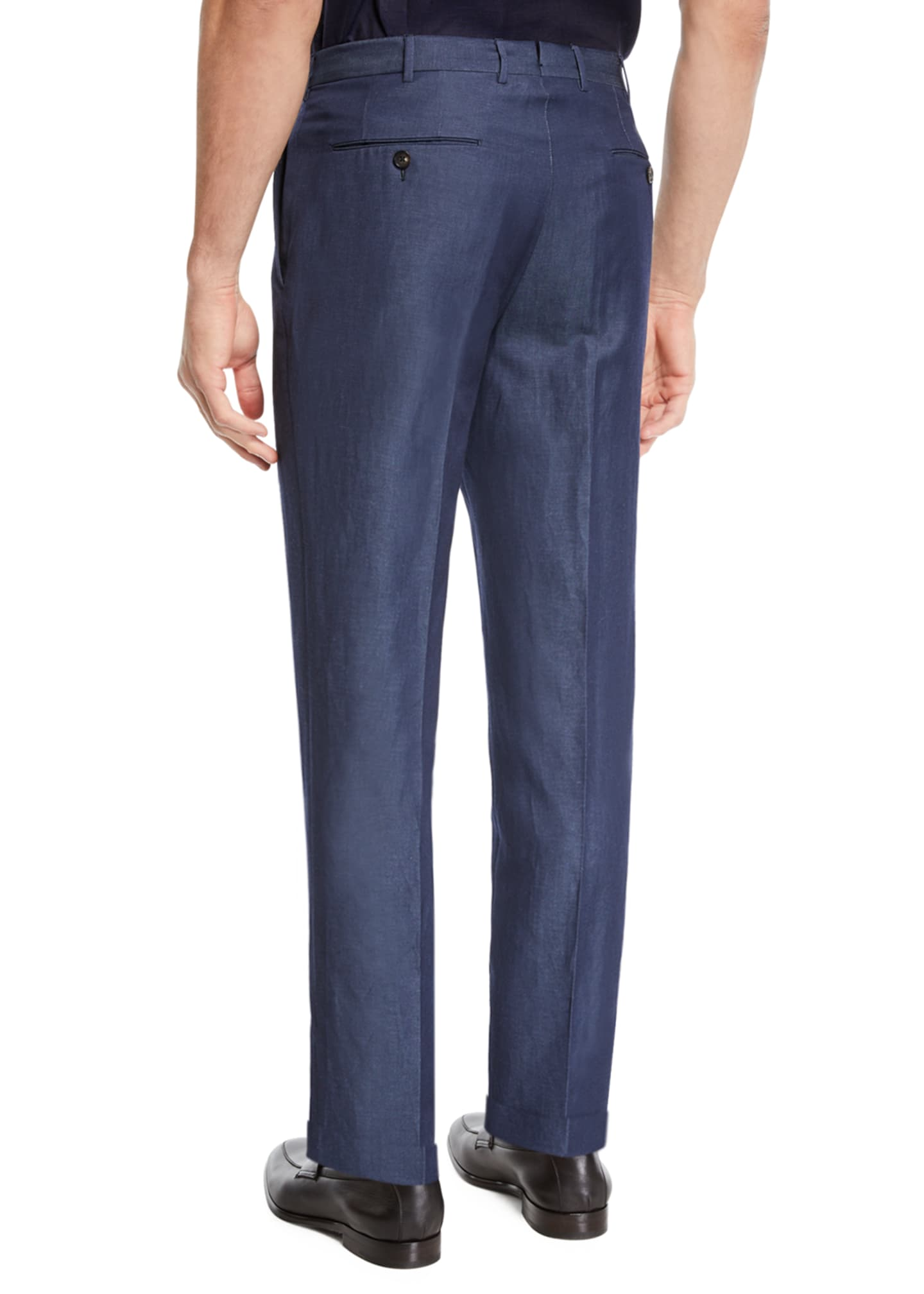 Image 2 of 3: Men's Wool/Linen Dress Trousers