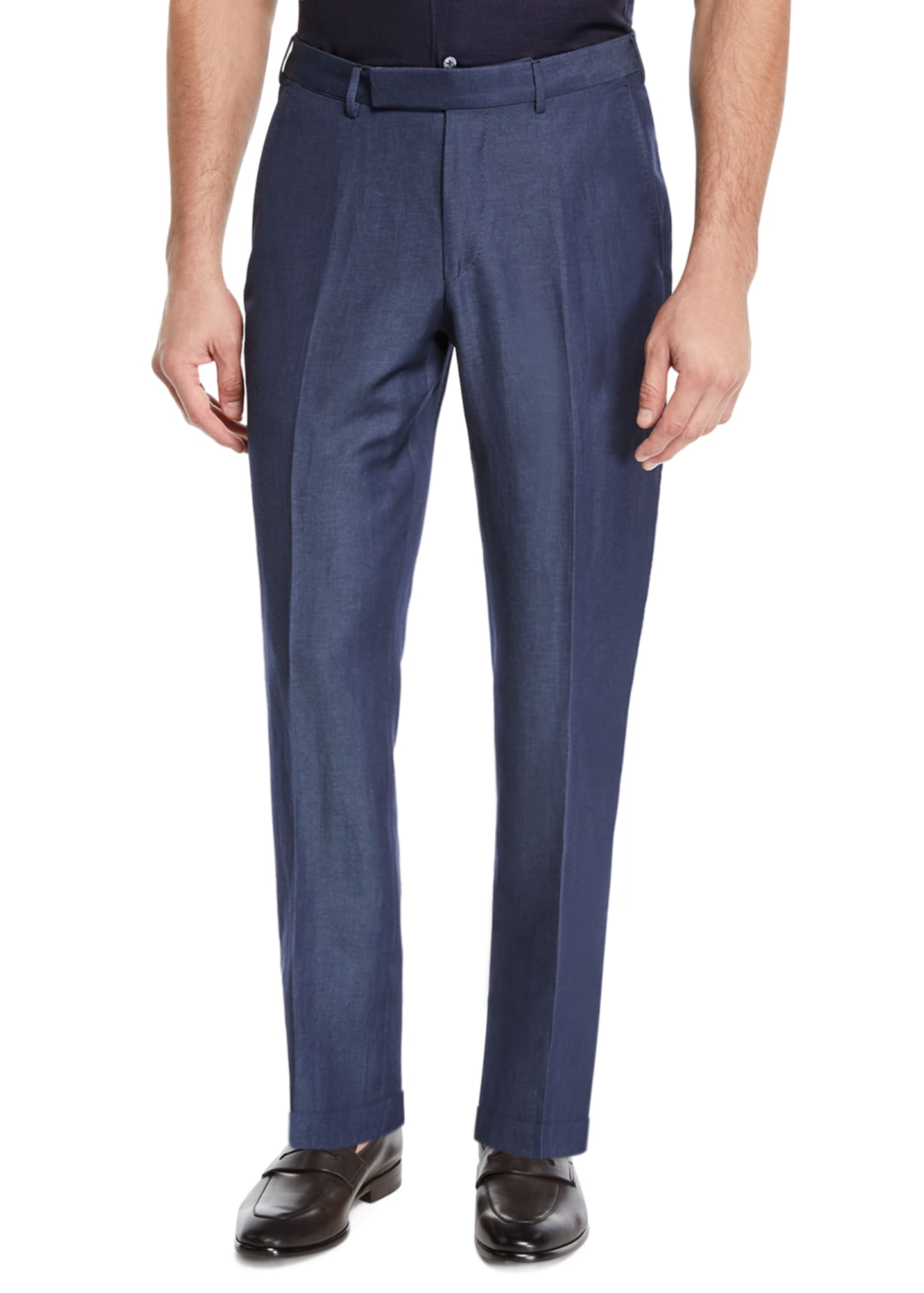 Image 1 of 3: Men's Wool/Linen Dress Trousers