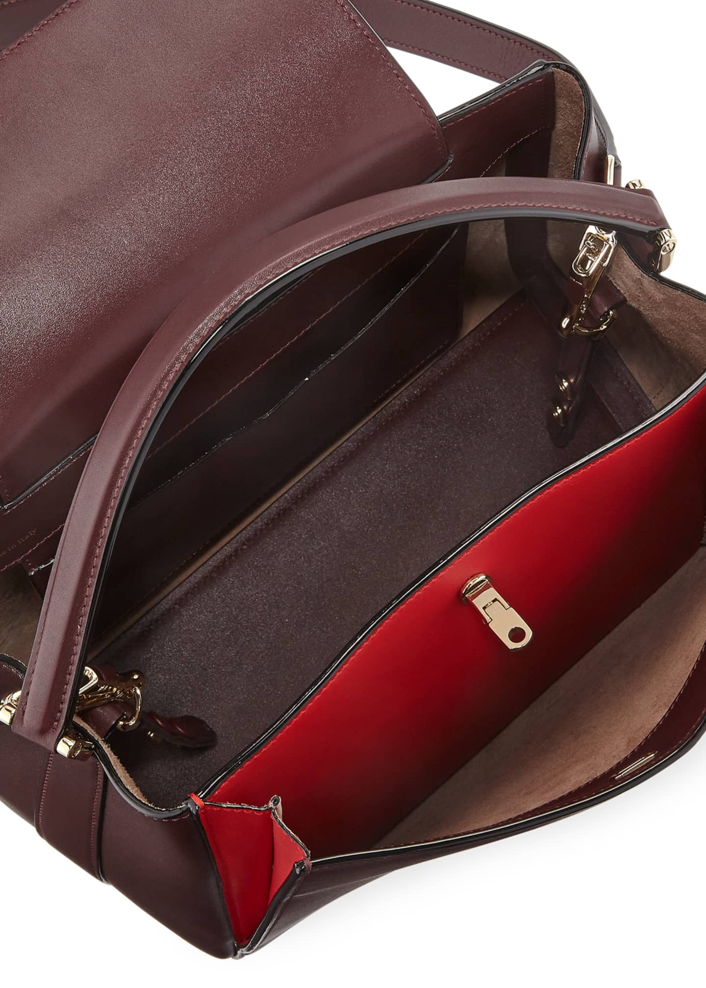 Image 2 of 3: Glossy Leather Brera Top Handle Bag