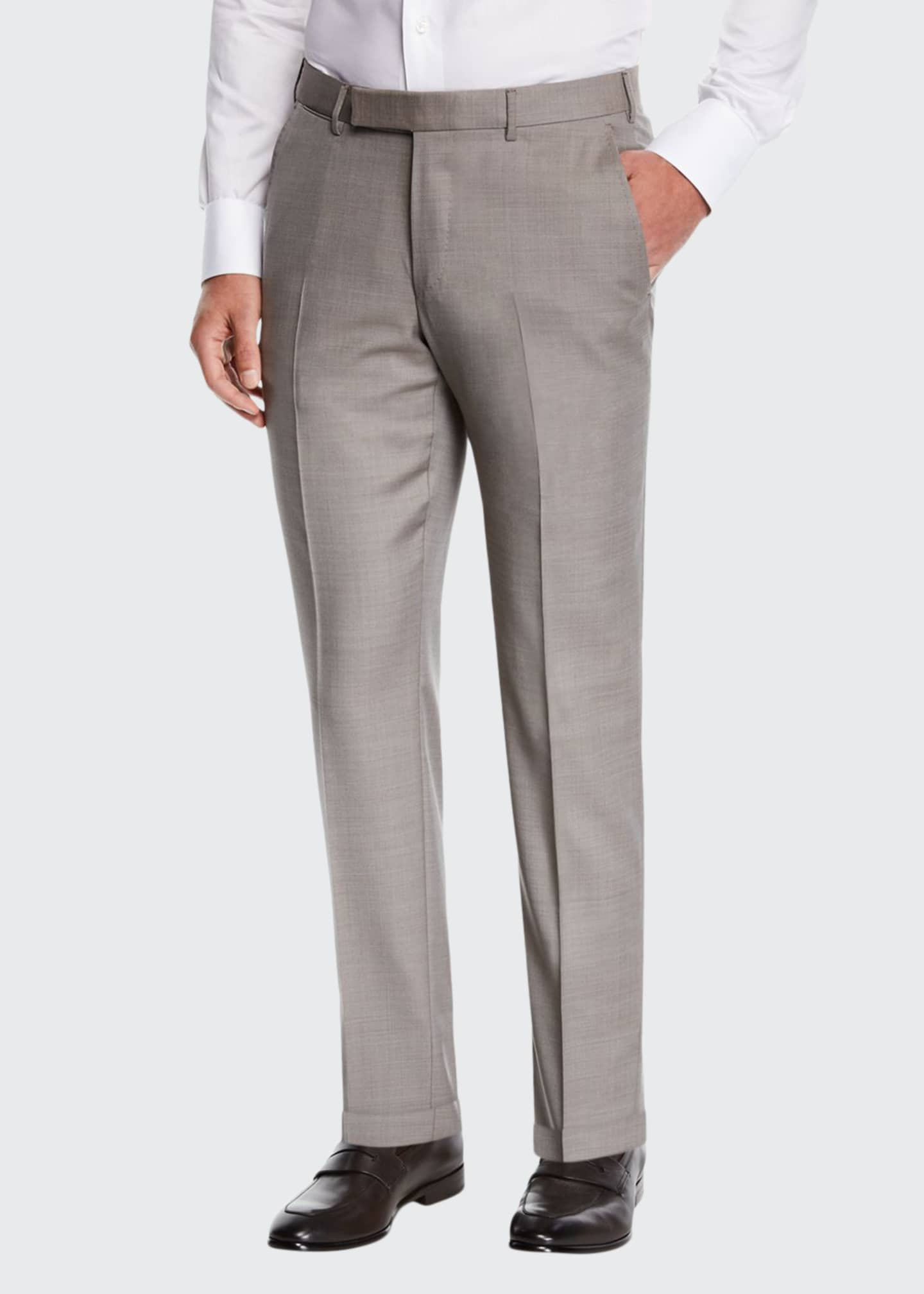 Ermenegildo Zegna Men's Achill Wool/Silk Dress Trousers