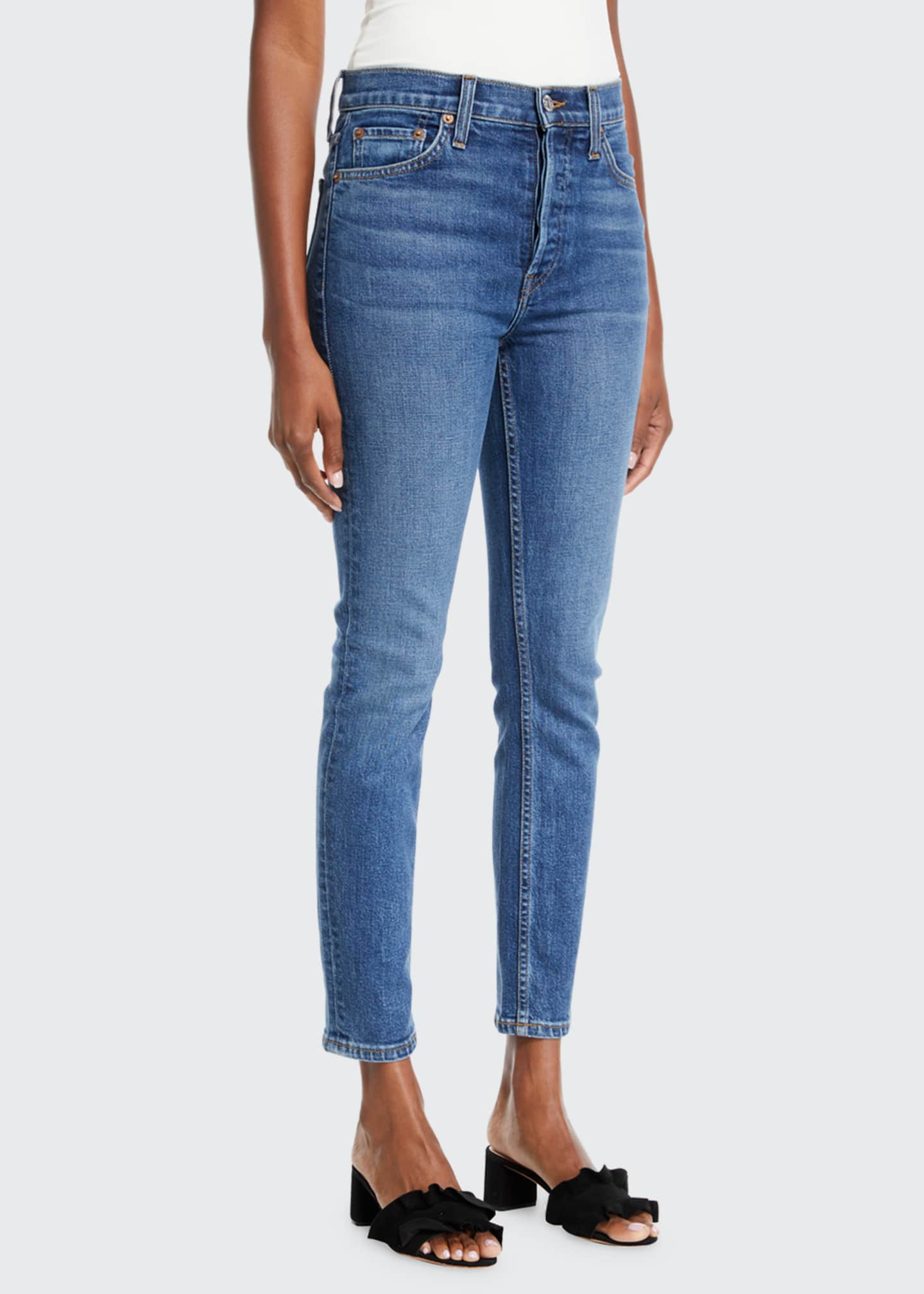 Image 3 of 3: High-Rise Skinny Ankle Cropped Jeans