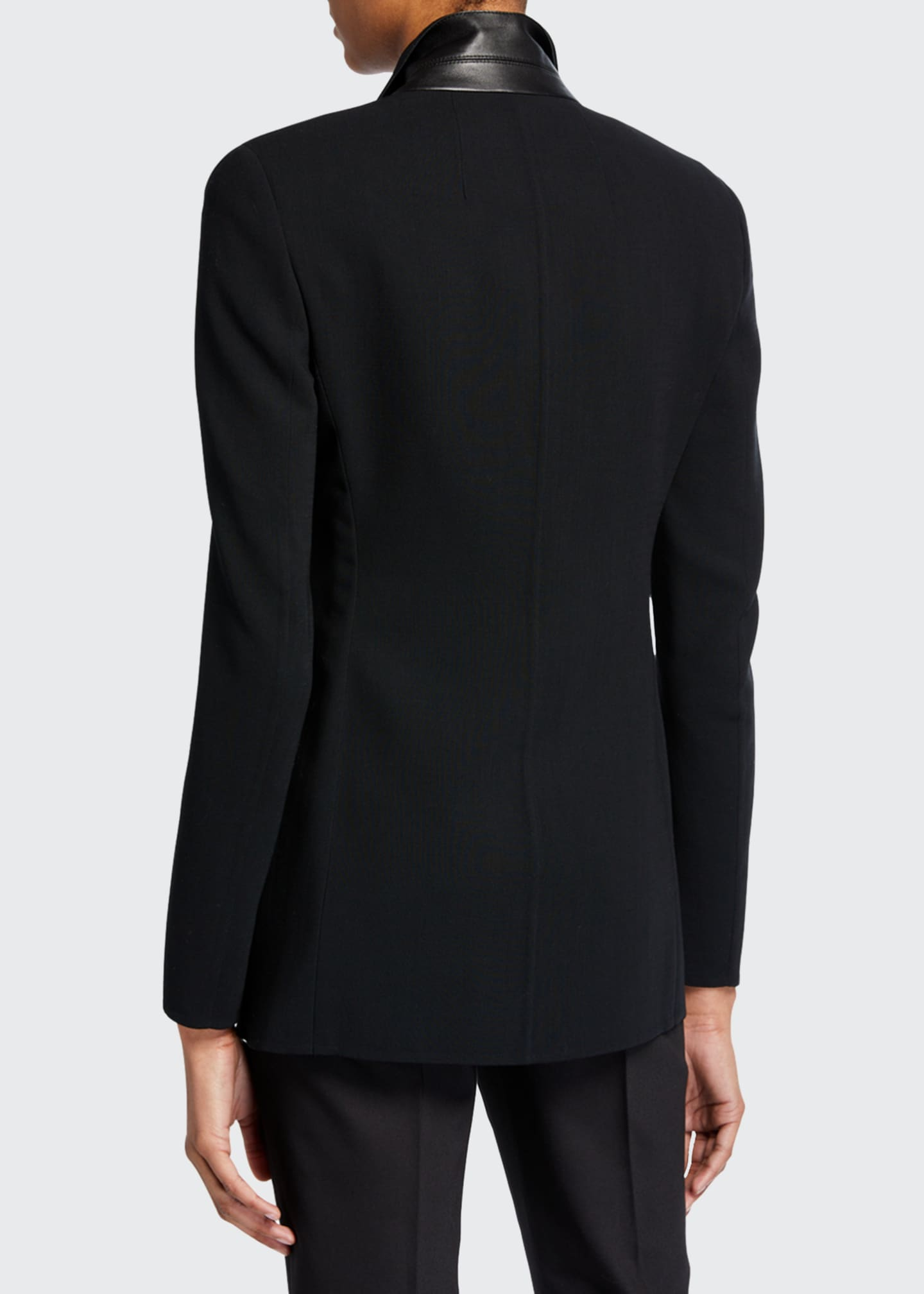 Image 3 of 3: Odette Long Wool Blazer Jacket