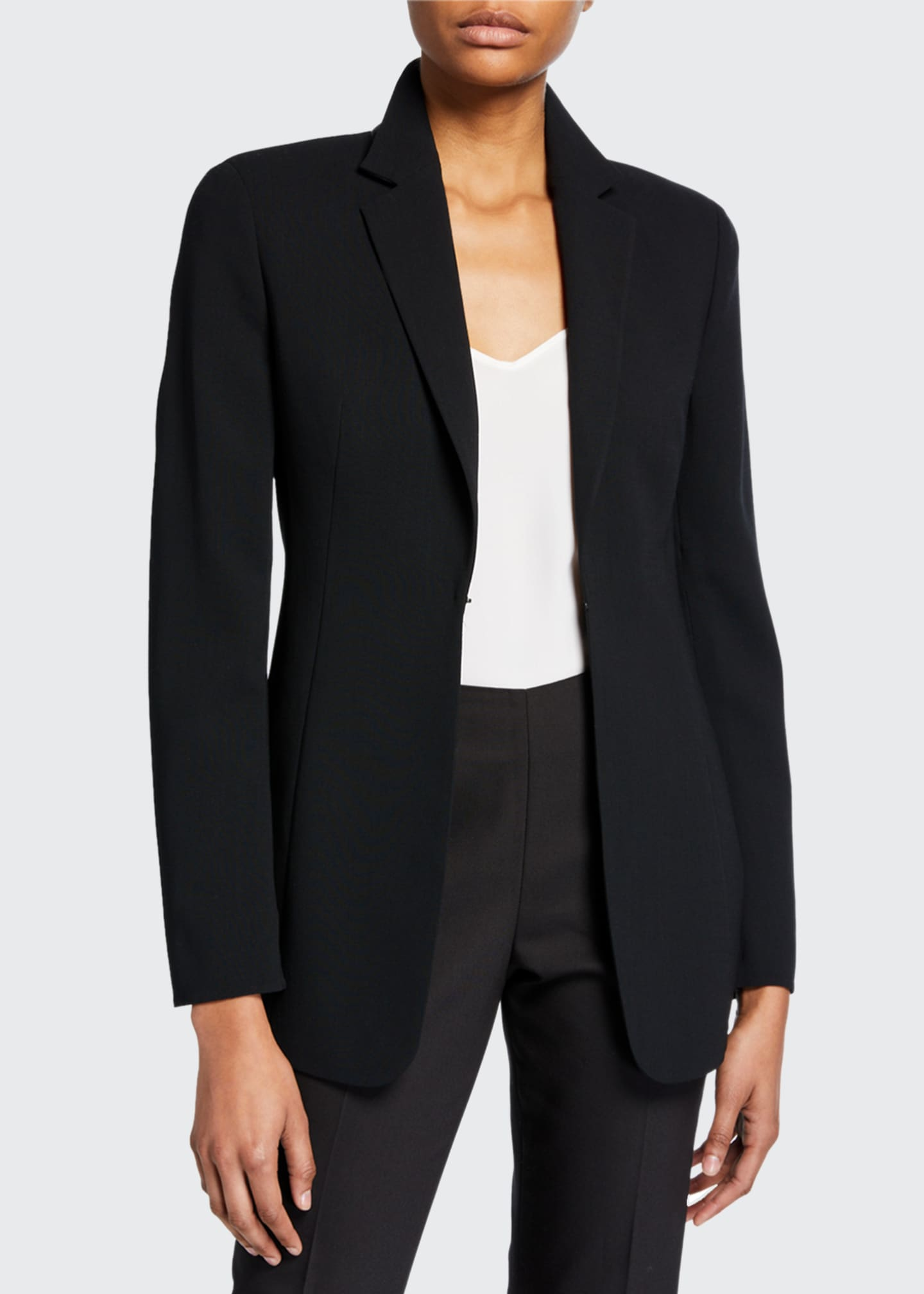 Image 1 of 3: Odette Long Wool Blazer Jacket