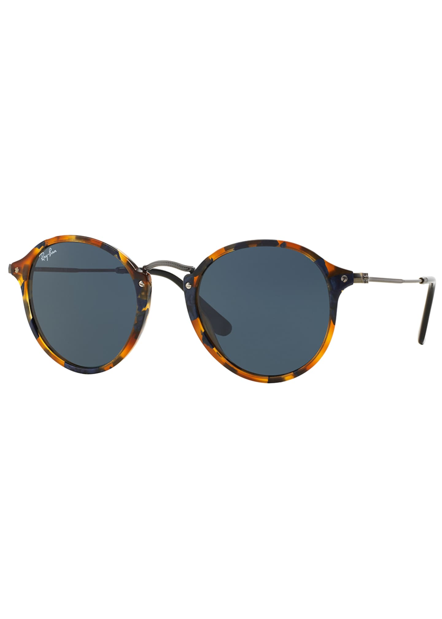 Image 2 of 3: Round Plastic/Metal Sunglasses