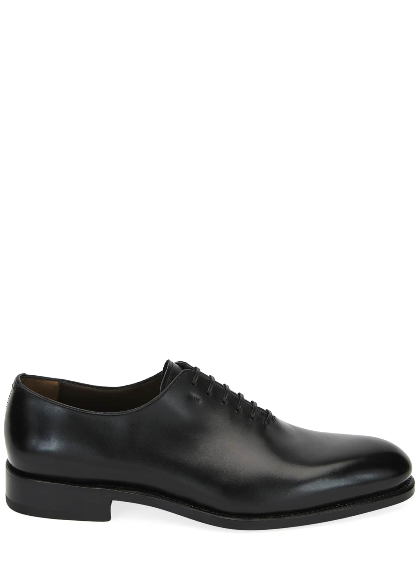 Image 2 of 3: Men's Amsterdam Calfskin Lace-Up Shoes