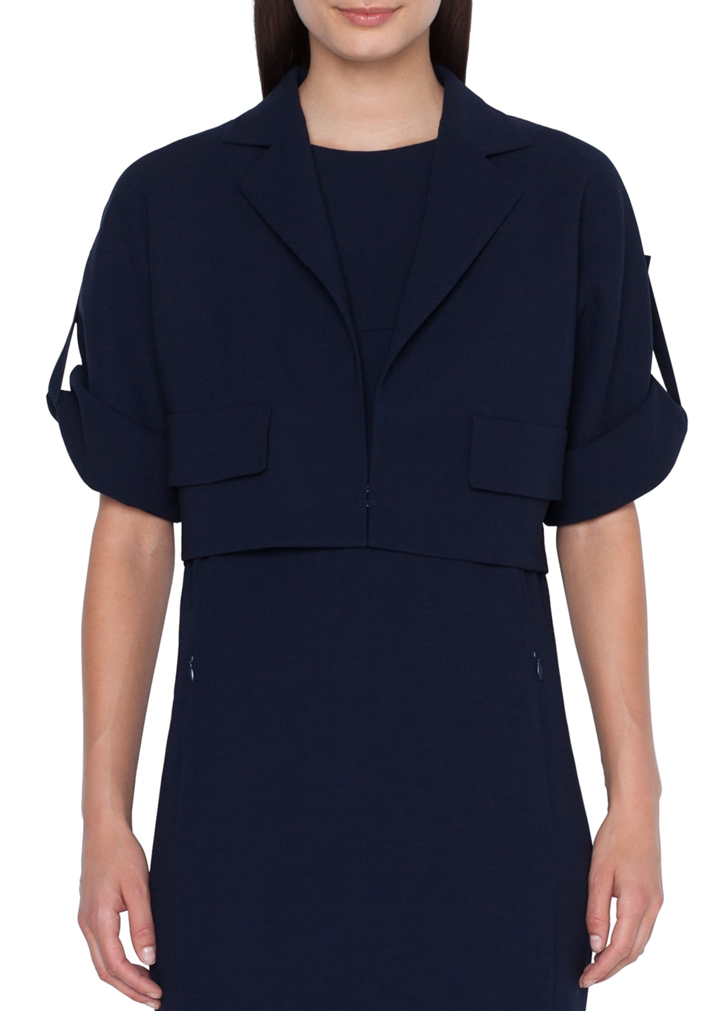 Akris 1/2-Sleeve Wool Jacket