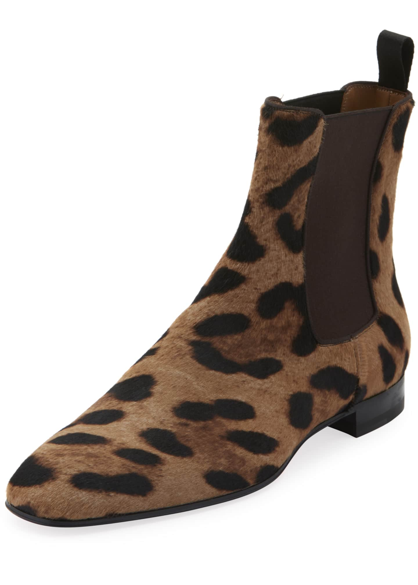 Christian Louboutin Men's Roadie Orlato Leopard Calf Hair