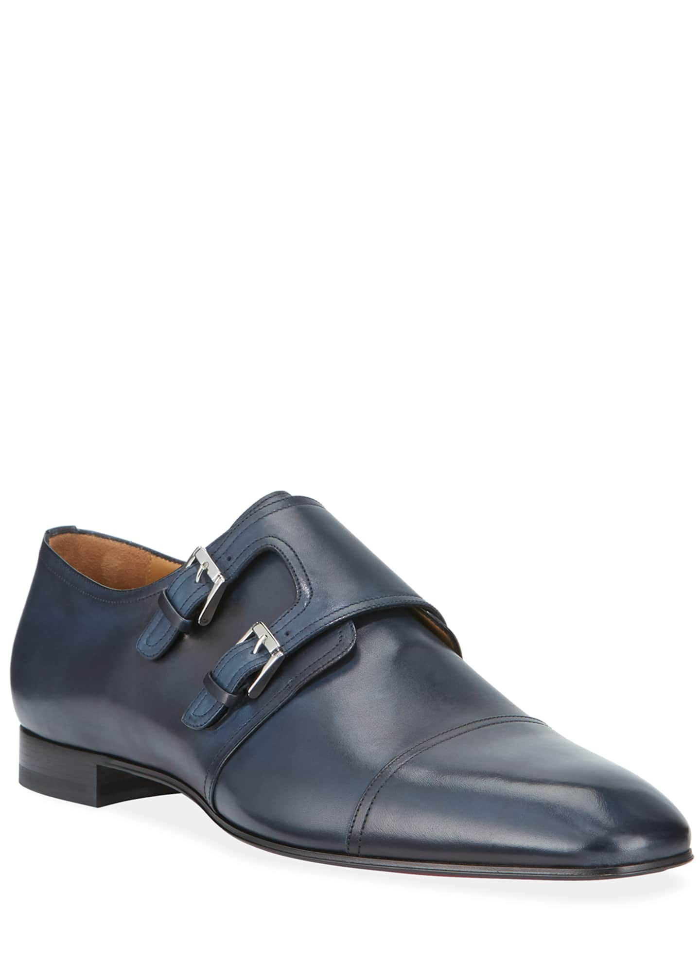 Christian Louboutin Men's Mortimer Double-Monk Red Sole Loafers