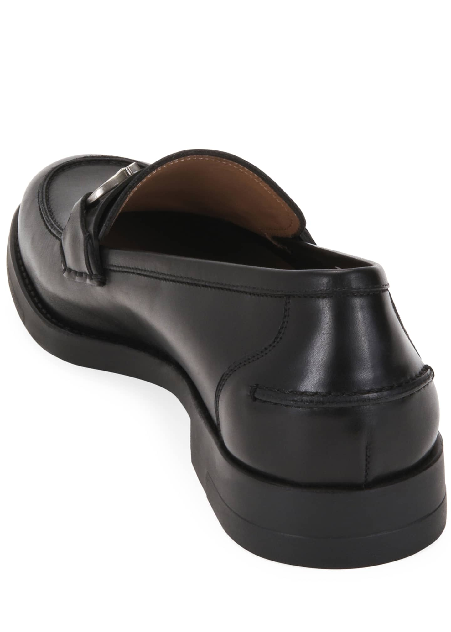 Image 4 of 4: Men's Arlin Leather Slip-On Bit Loafers