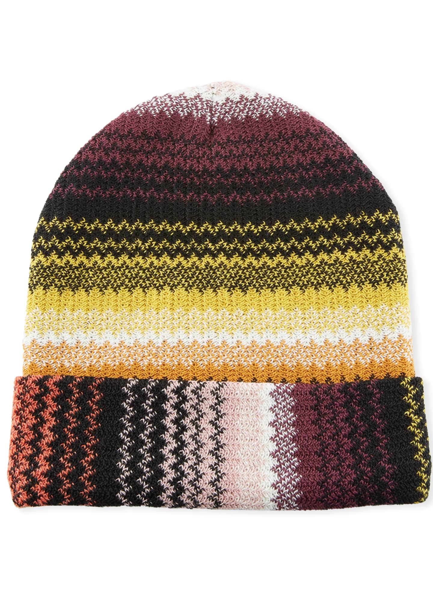 Missoni Accessories Zigzag Wool-Blend Beanie Hat