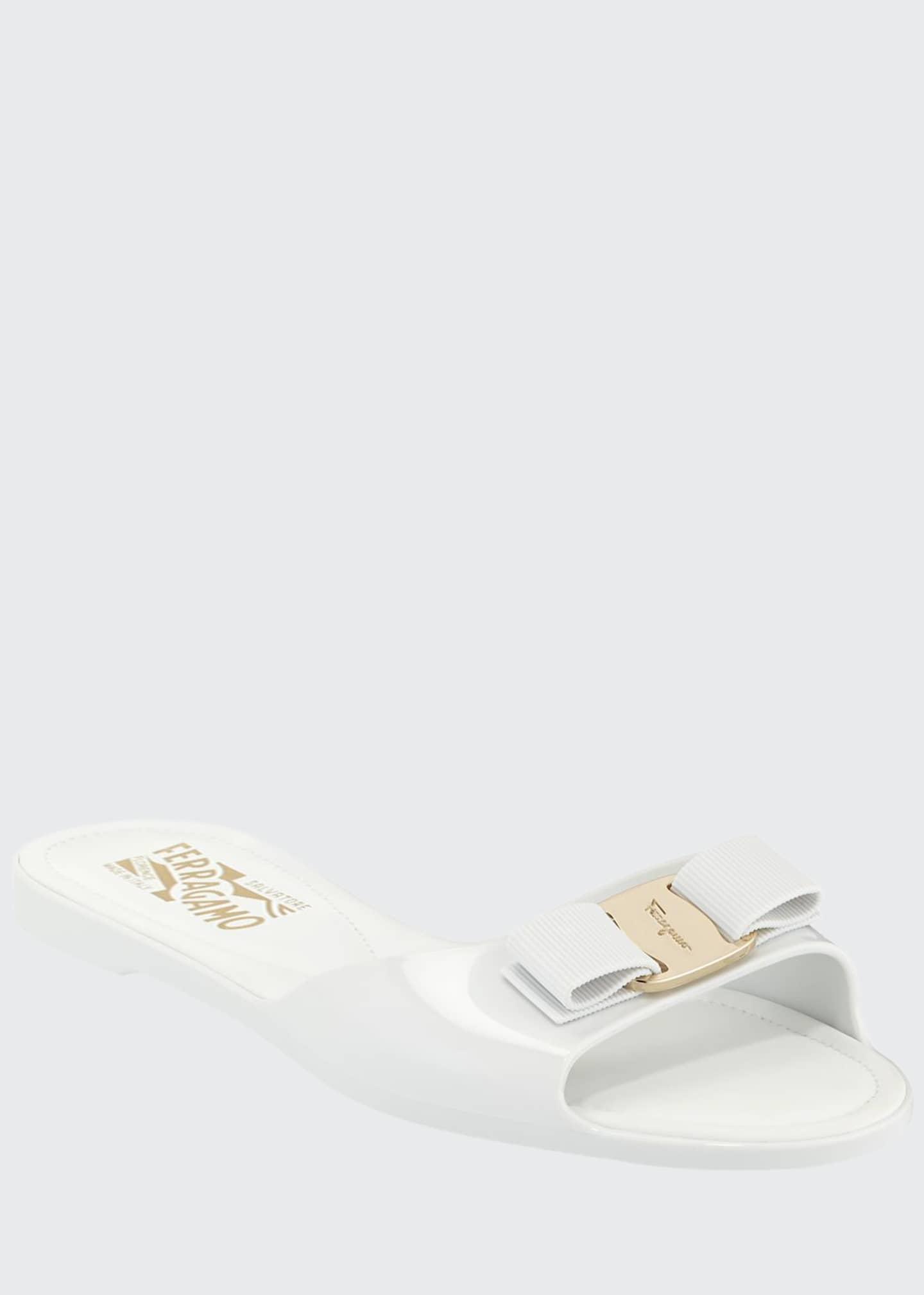 Salvatore Ferragamo Cirella Flat PVC Jelly Bow Slide