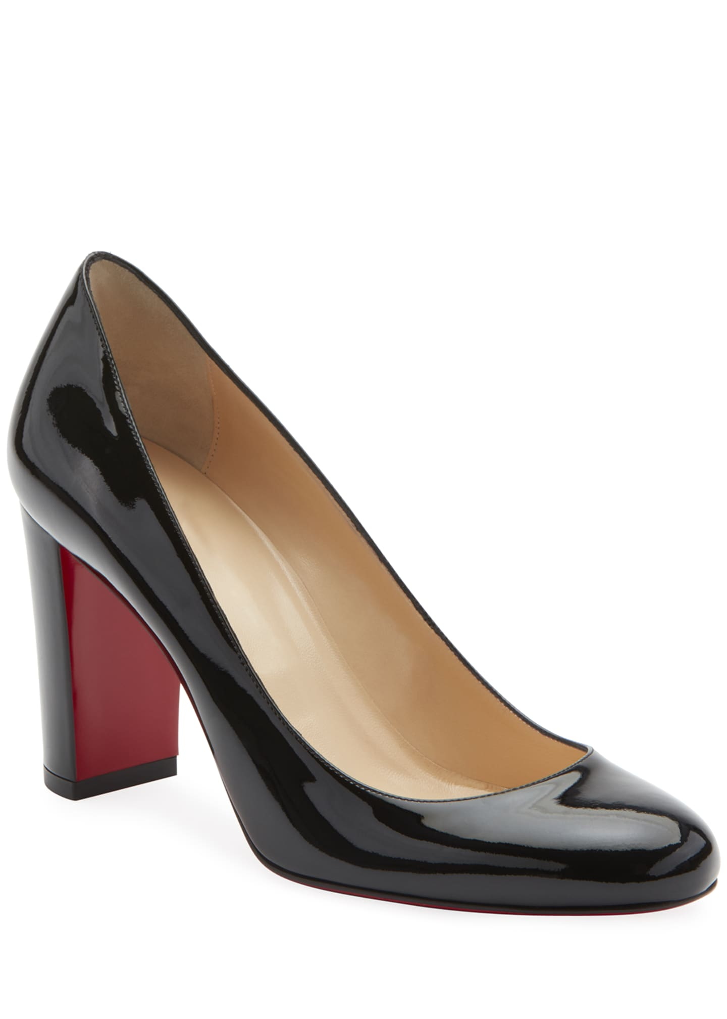Image 2 of 3: Lady Gena Patent Red Sole Pumps