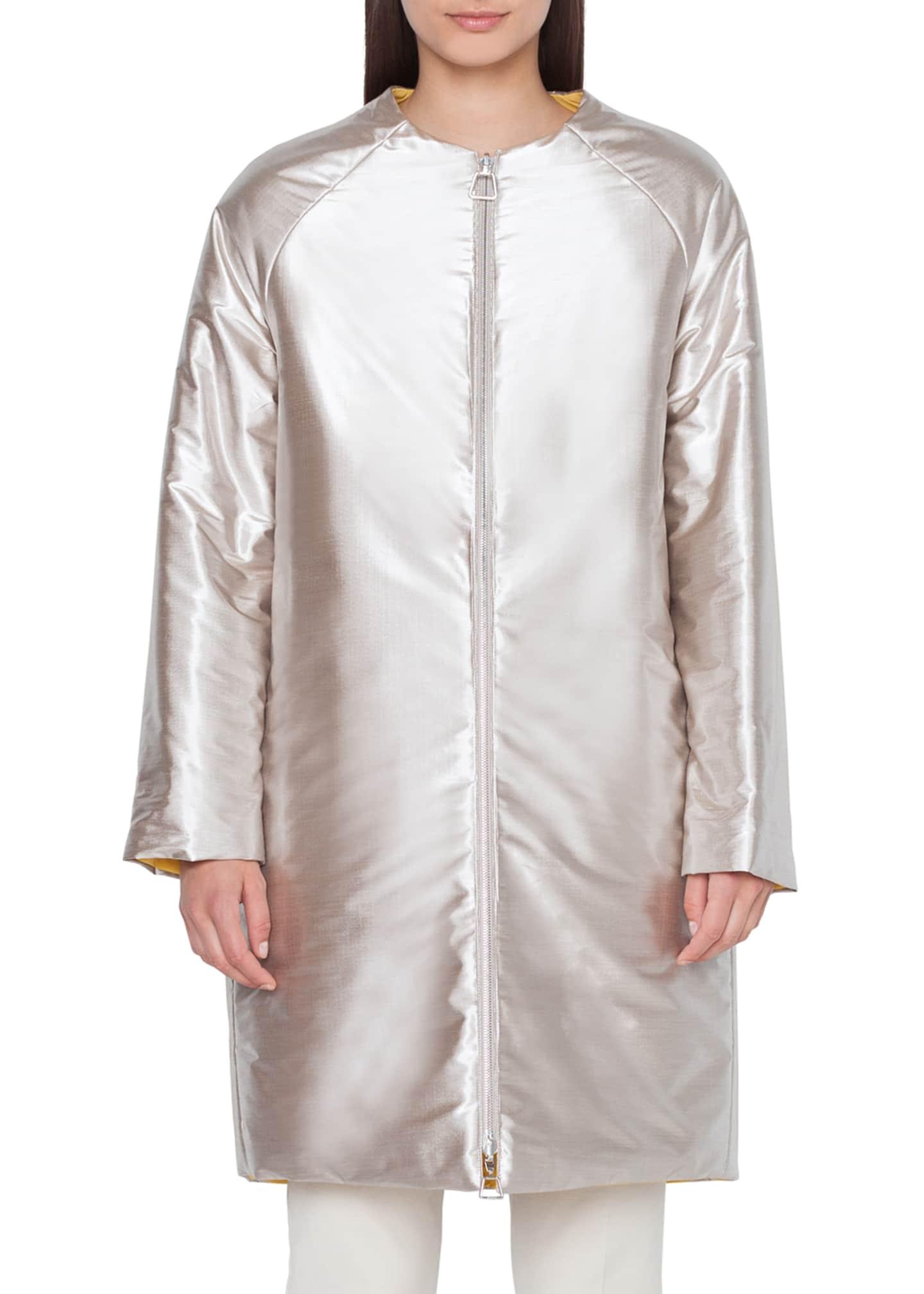 Akris Reversible Metallic Coat