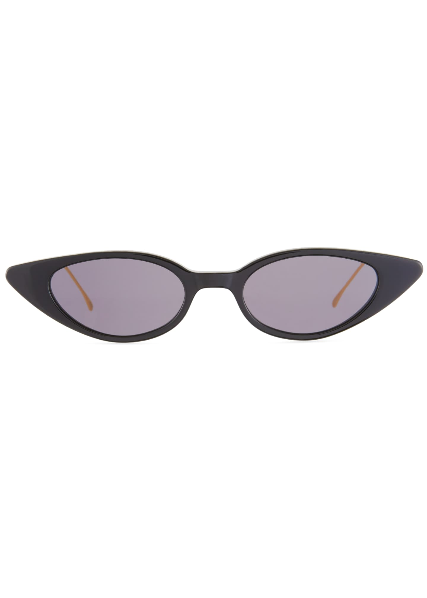 Image 2 of 3: Marianne Cat-Eye Acetate & Steel Sunglasses