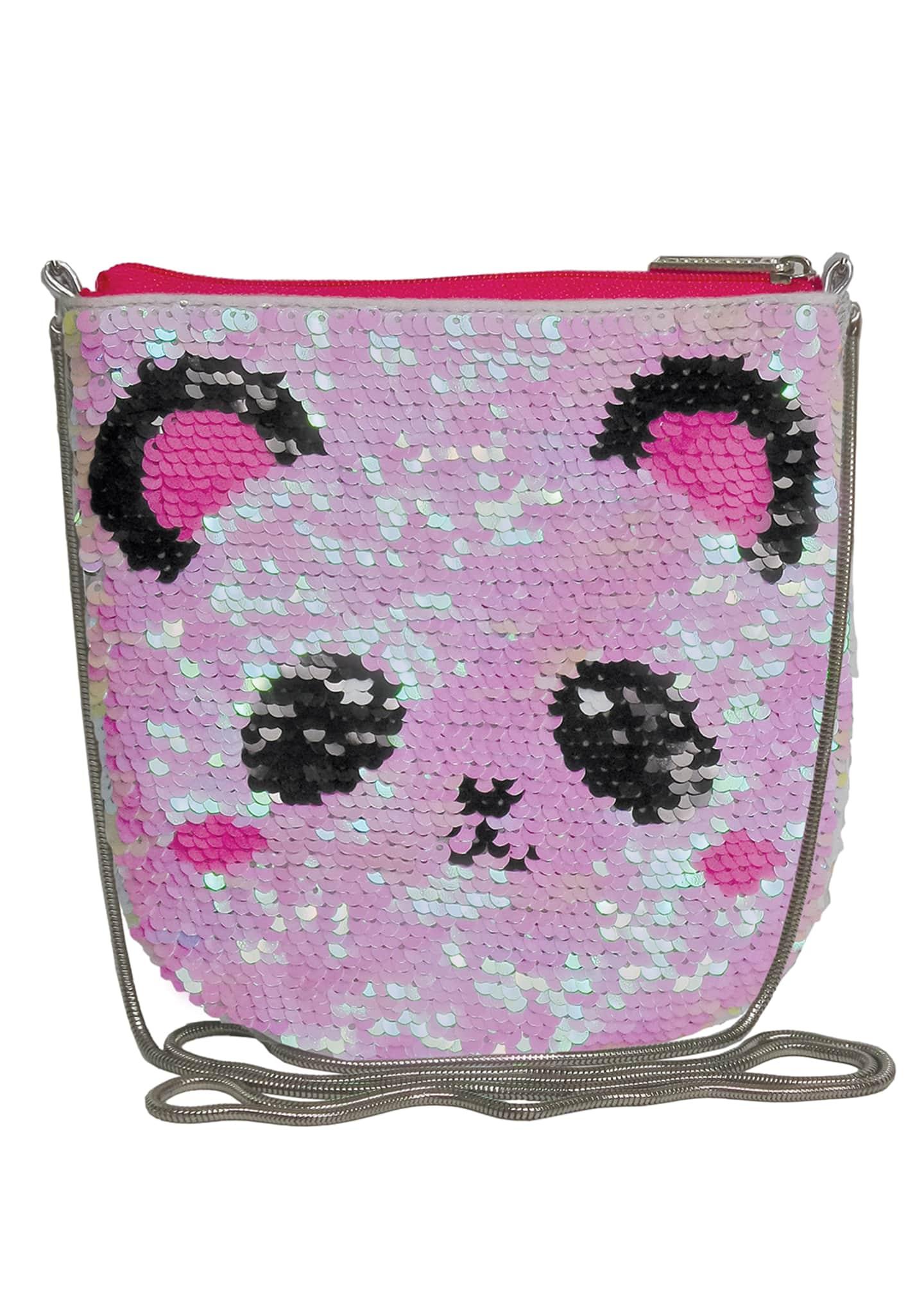 Iscream Kids' Panda Flip Sequin Crossbody Bag