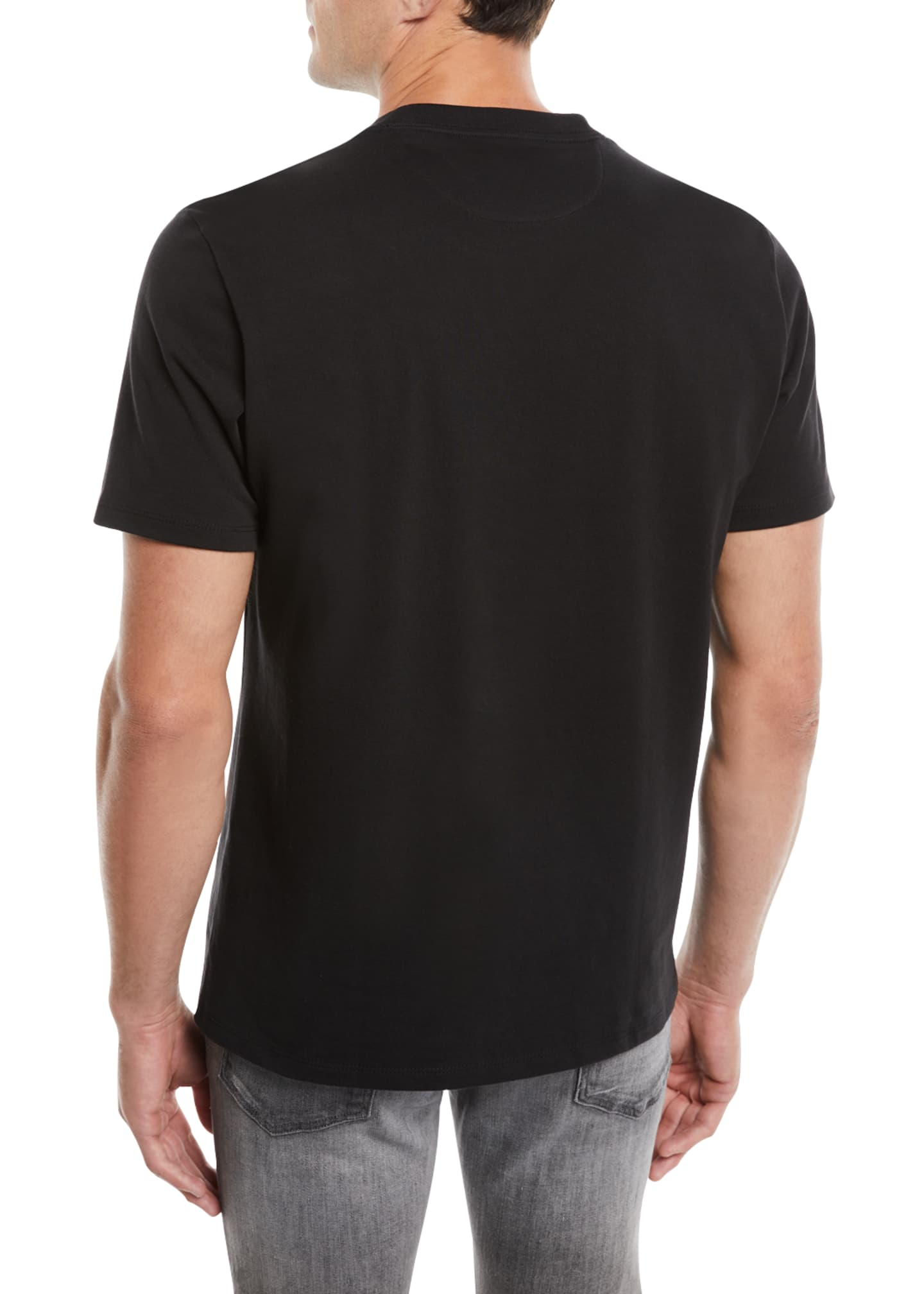Image 2 of 2: Men's Heavyweight Cotton Crewneck Classic Fit T-Shirt
