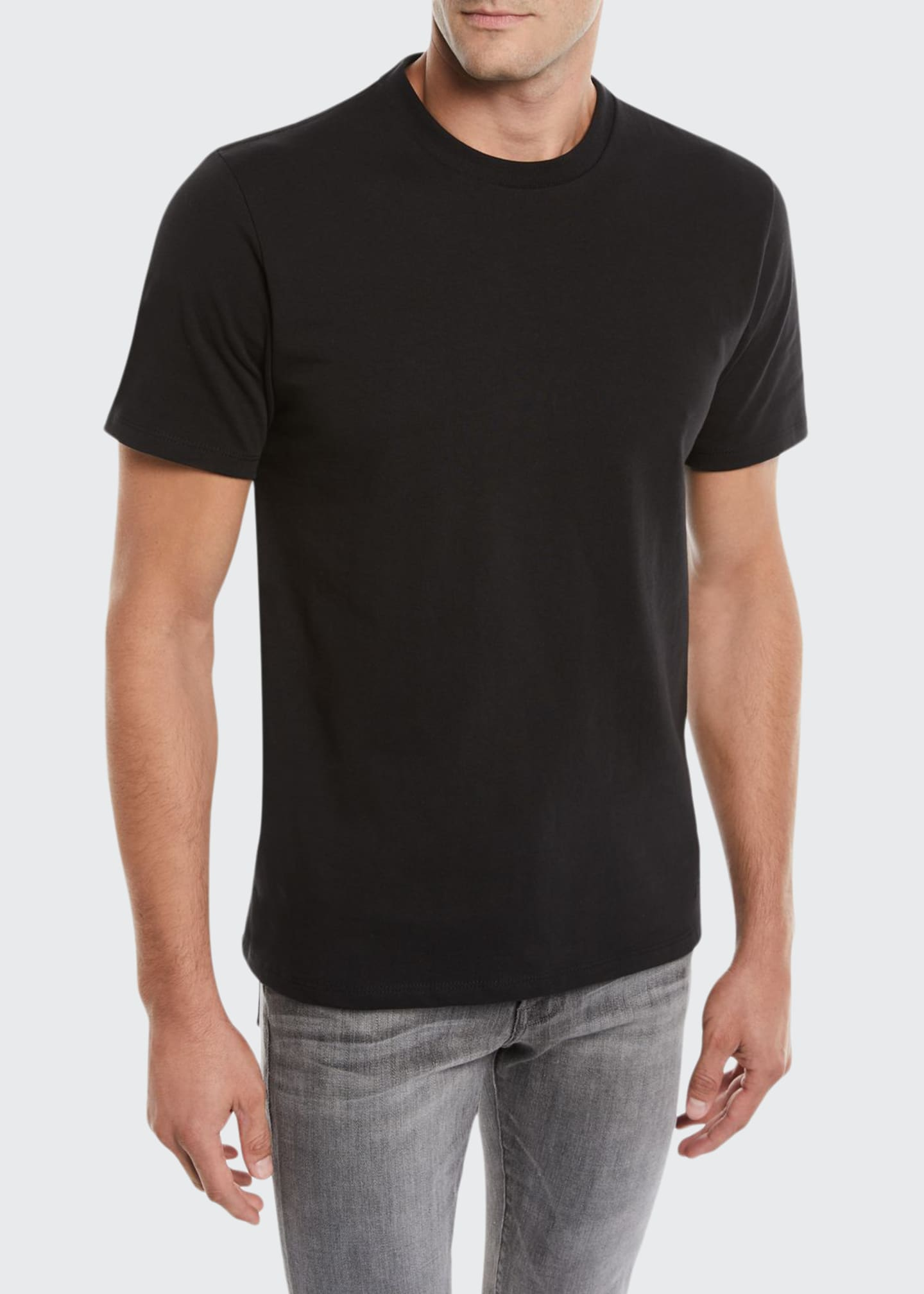 Image 1 of 2: Men's Heavyweight Cotton Crewneck Classic Fit T-Shirt