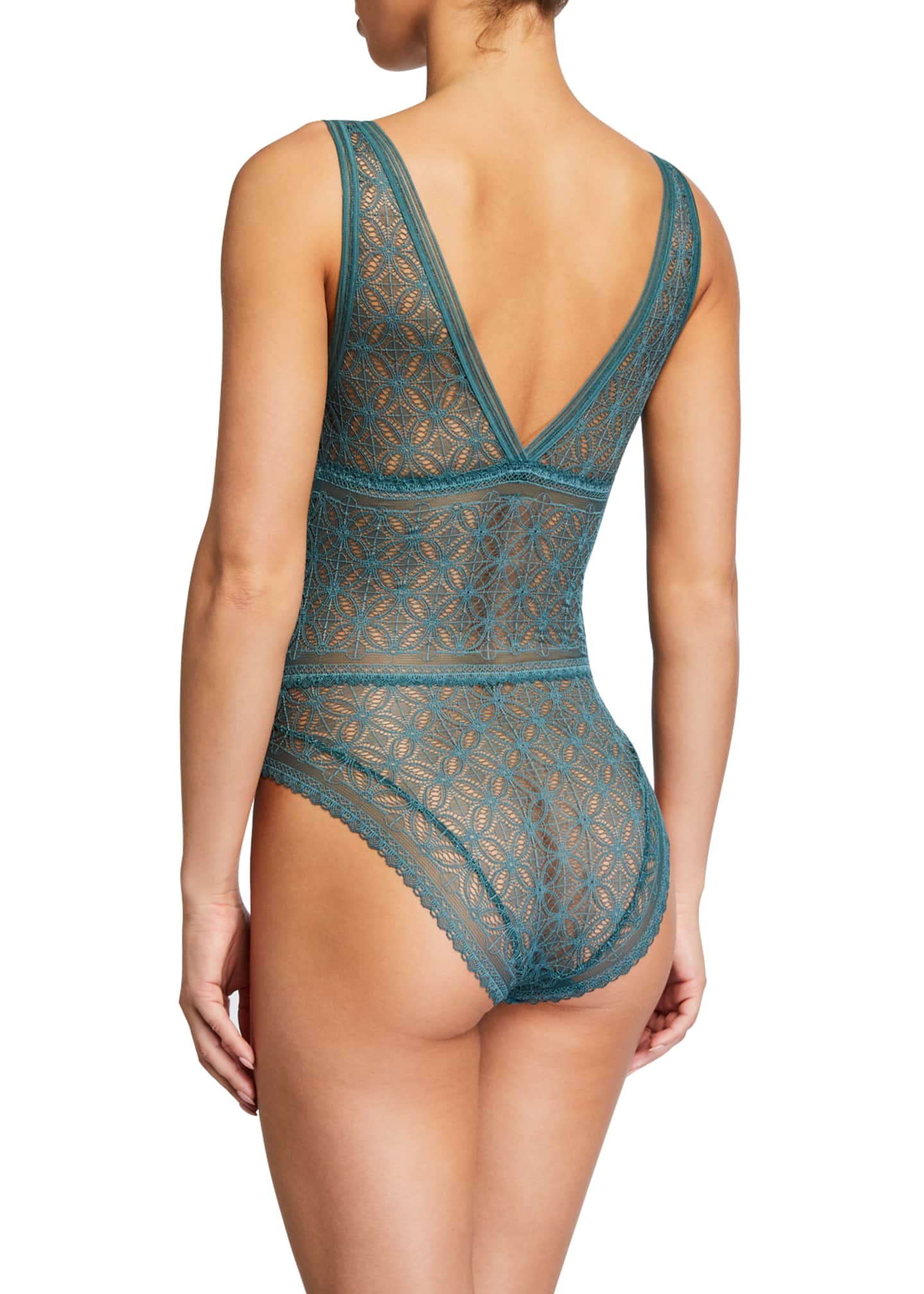 Image 2 of 2: Chloe Soft-Cup V-Neck Bodysuit