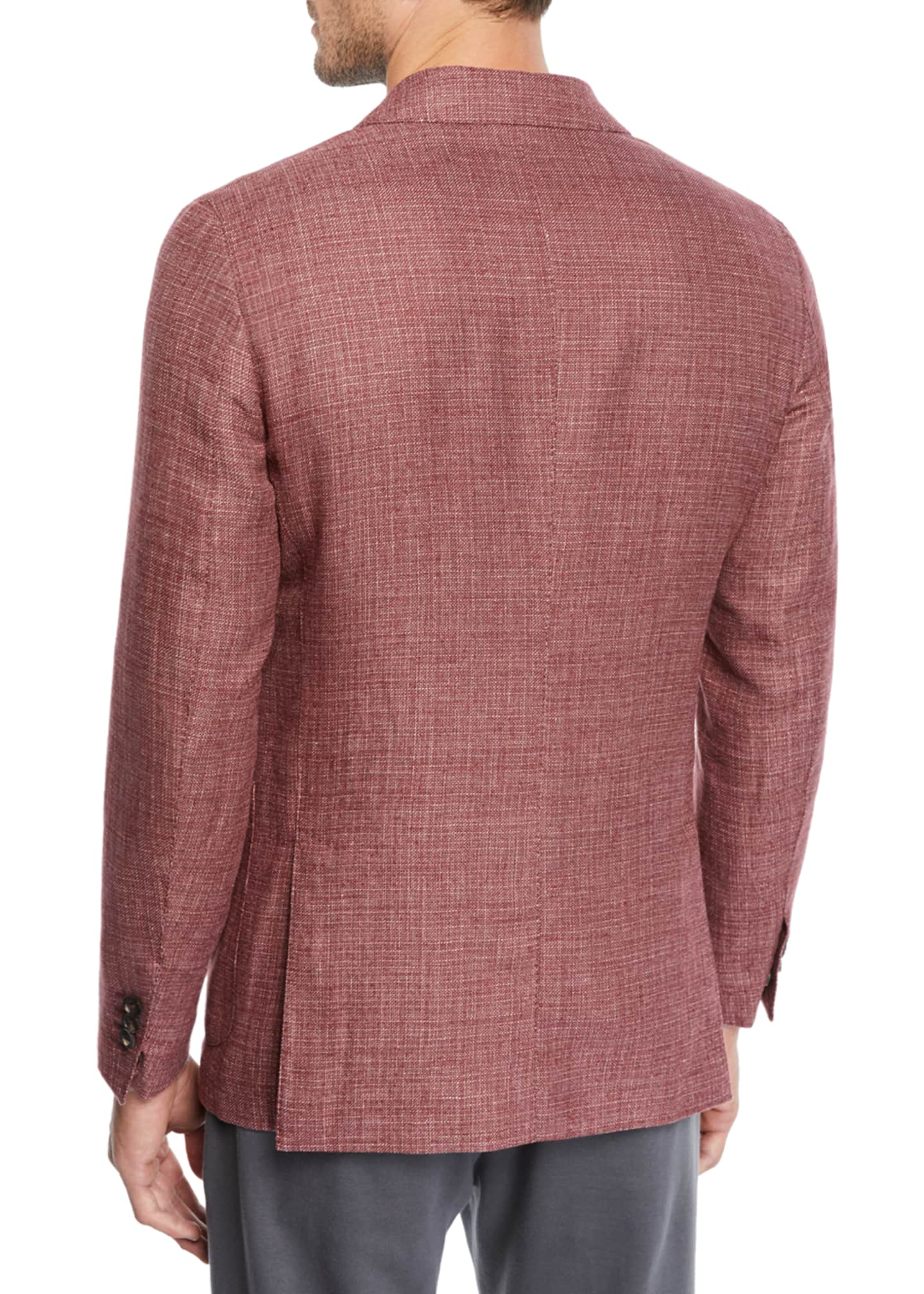 Image 2 of 3: Men's Wool/Linen Tic Blazer