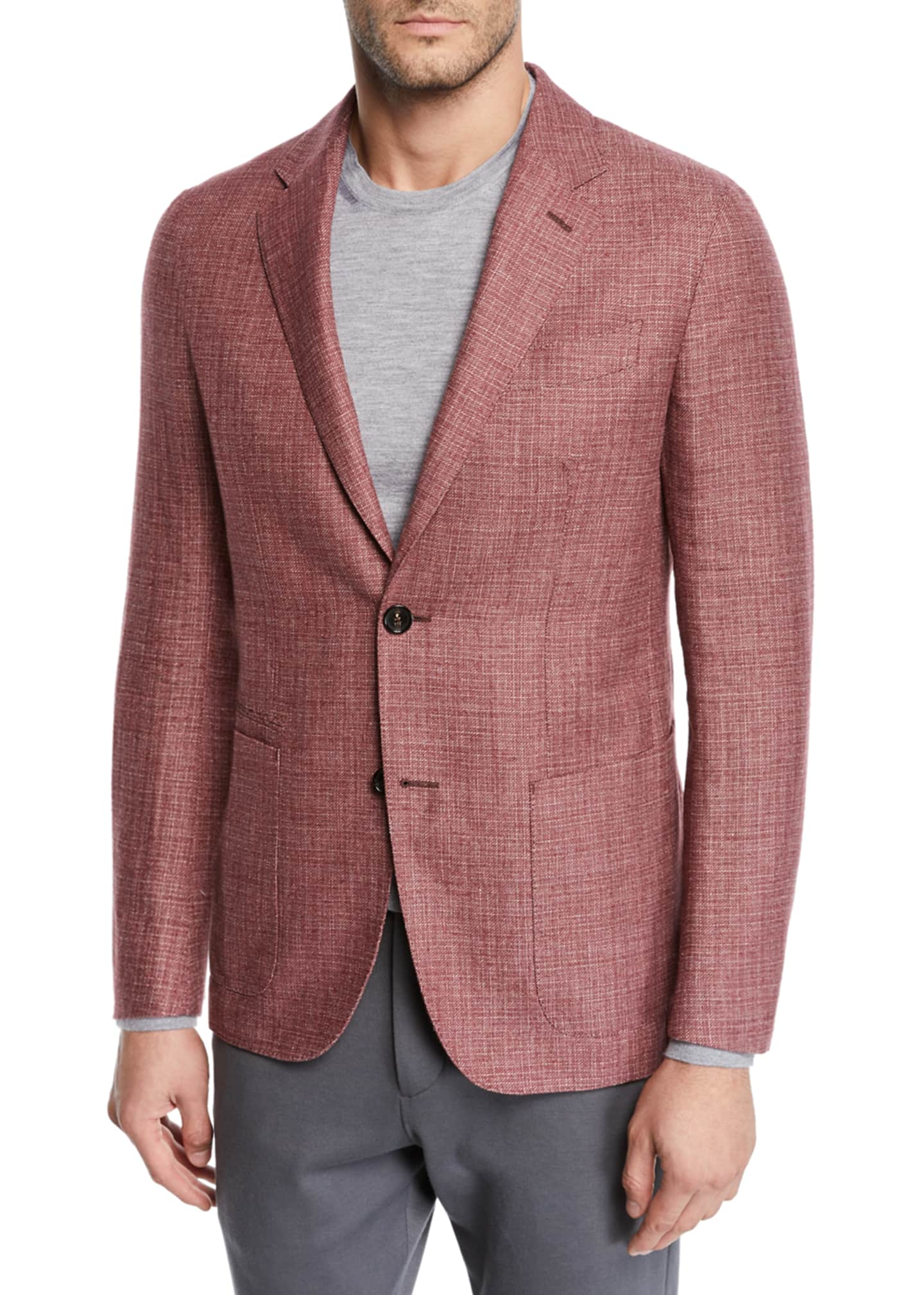 Image 1 of 3: Men's Wool/Linen Tic Blazer