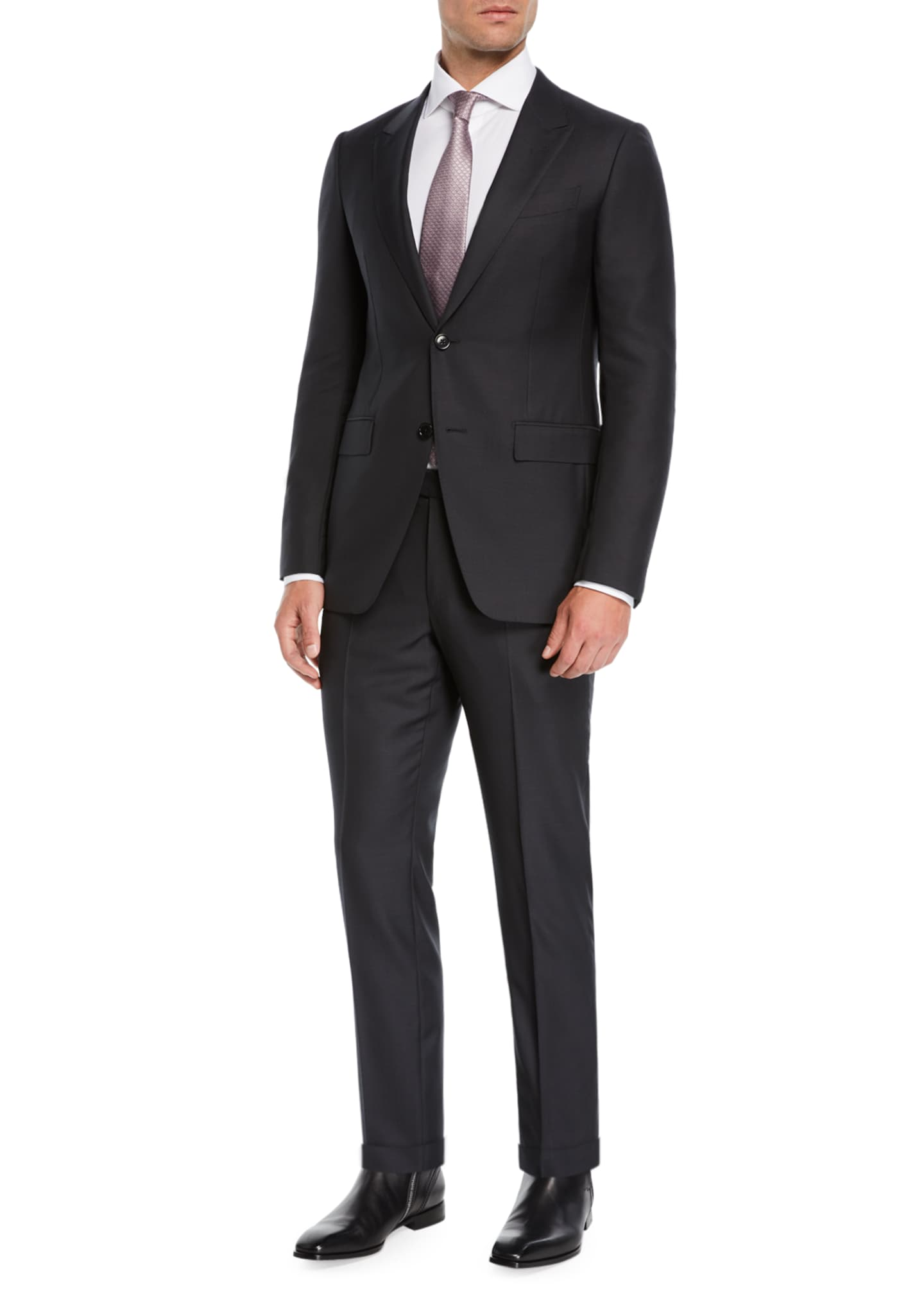 Ermenegildo Zegna Men's Two-Piece Nailhead Suit