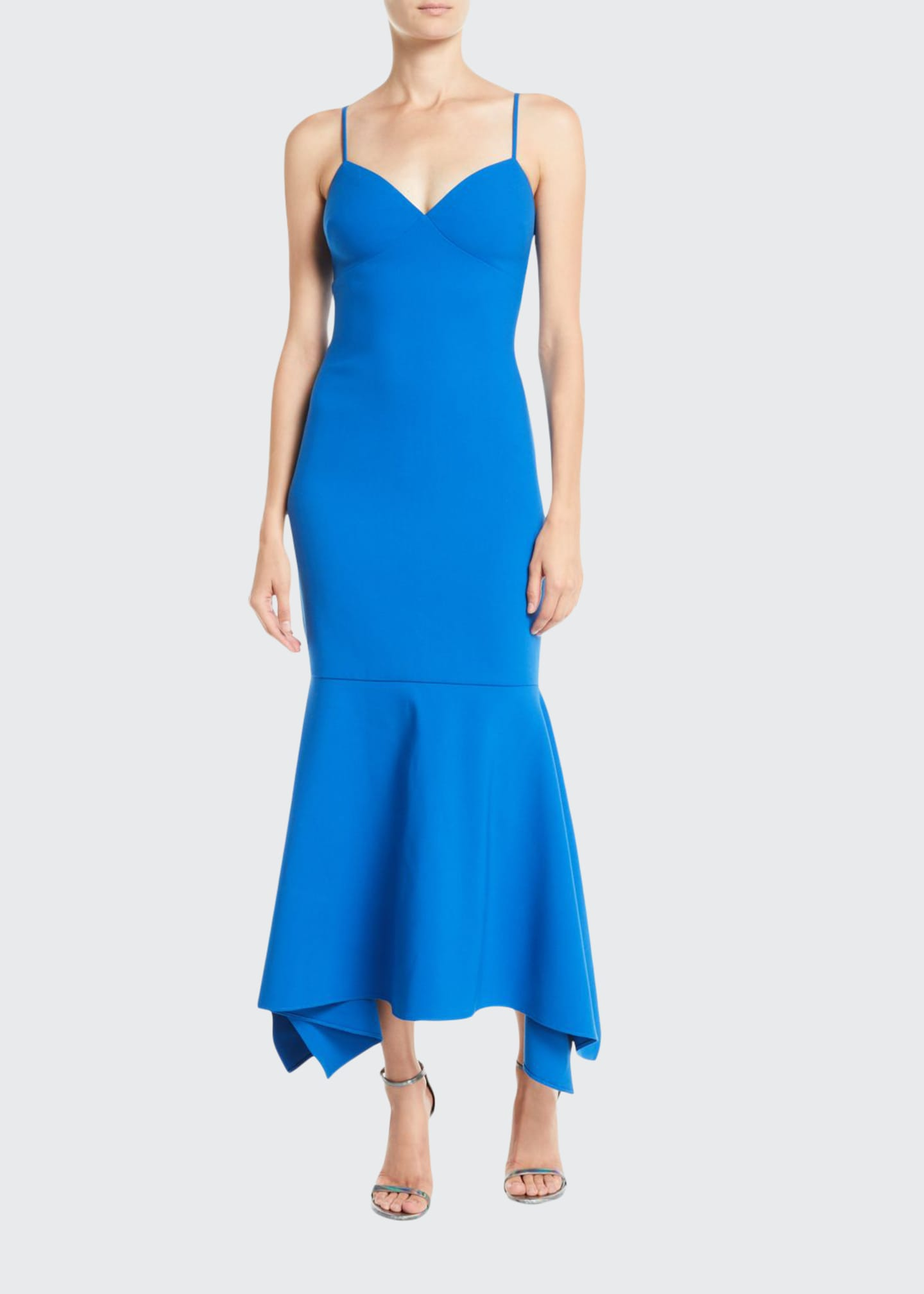 Likely Christiana Slip Gown Dress w/ Flounce Hem