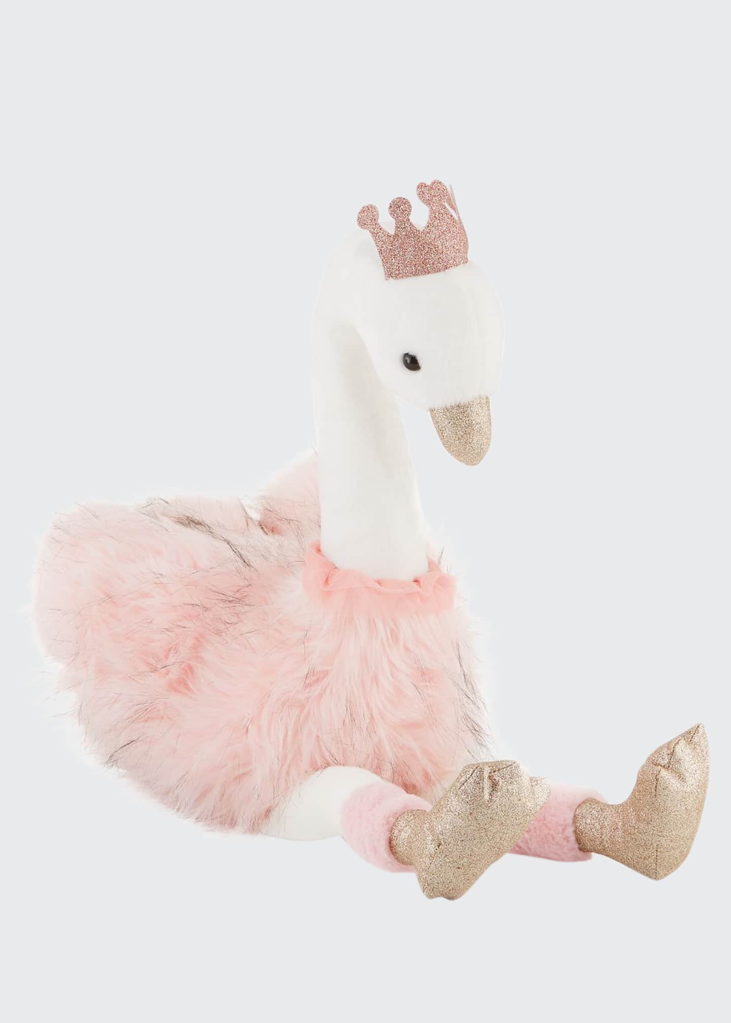 Stuffed Swan Toy with Crown, 32""