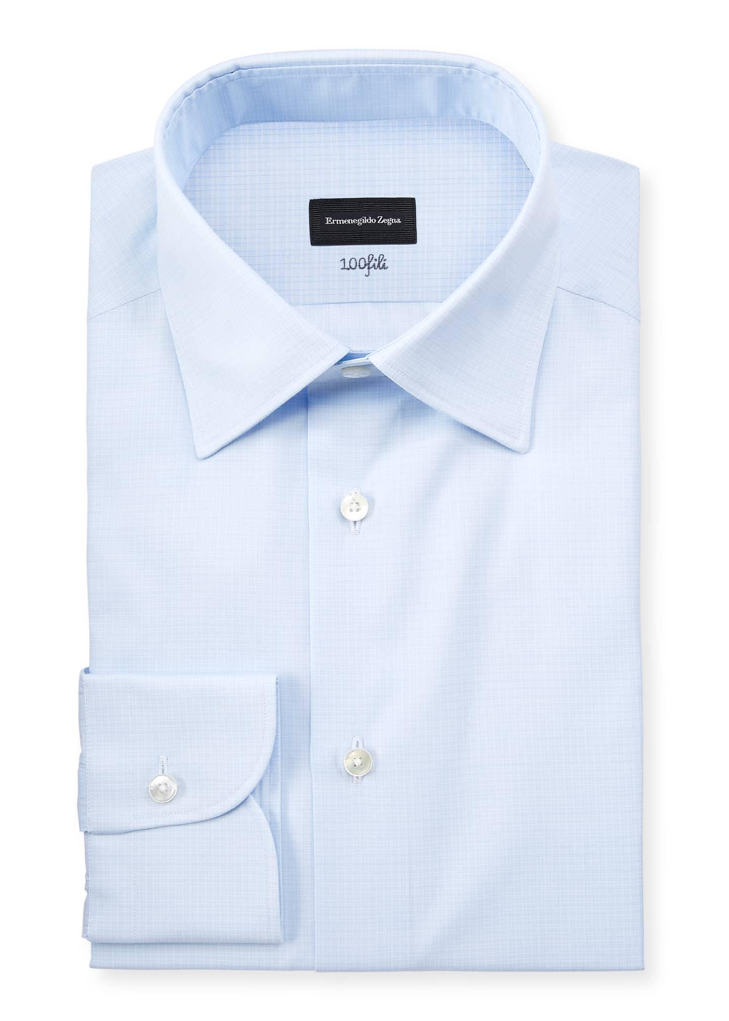 Ermenegildo Zegna Men's Cotton Tonal Check Cento Dress