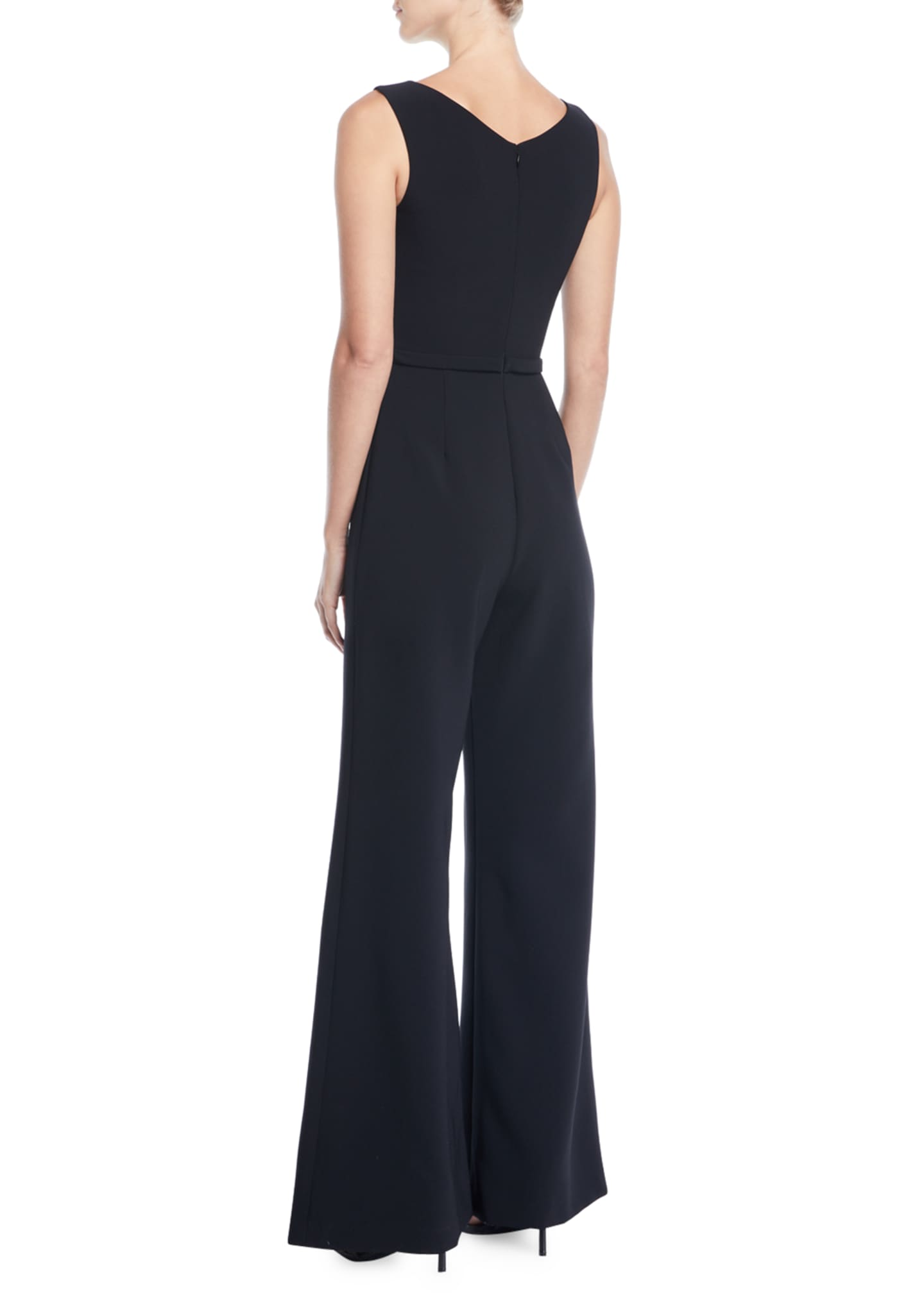 Image 2 of 2: Bateau-Neck Micro-Beaded Jumpsuit