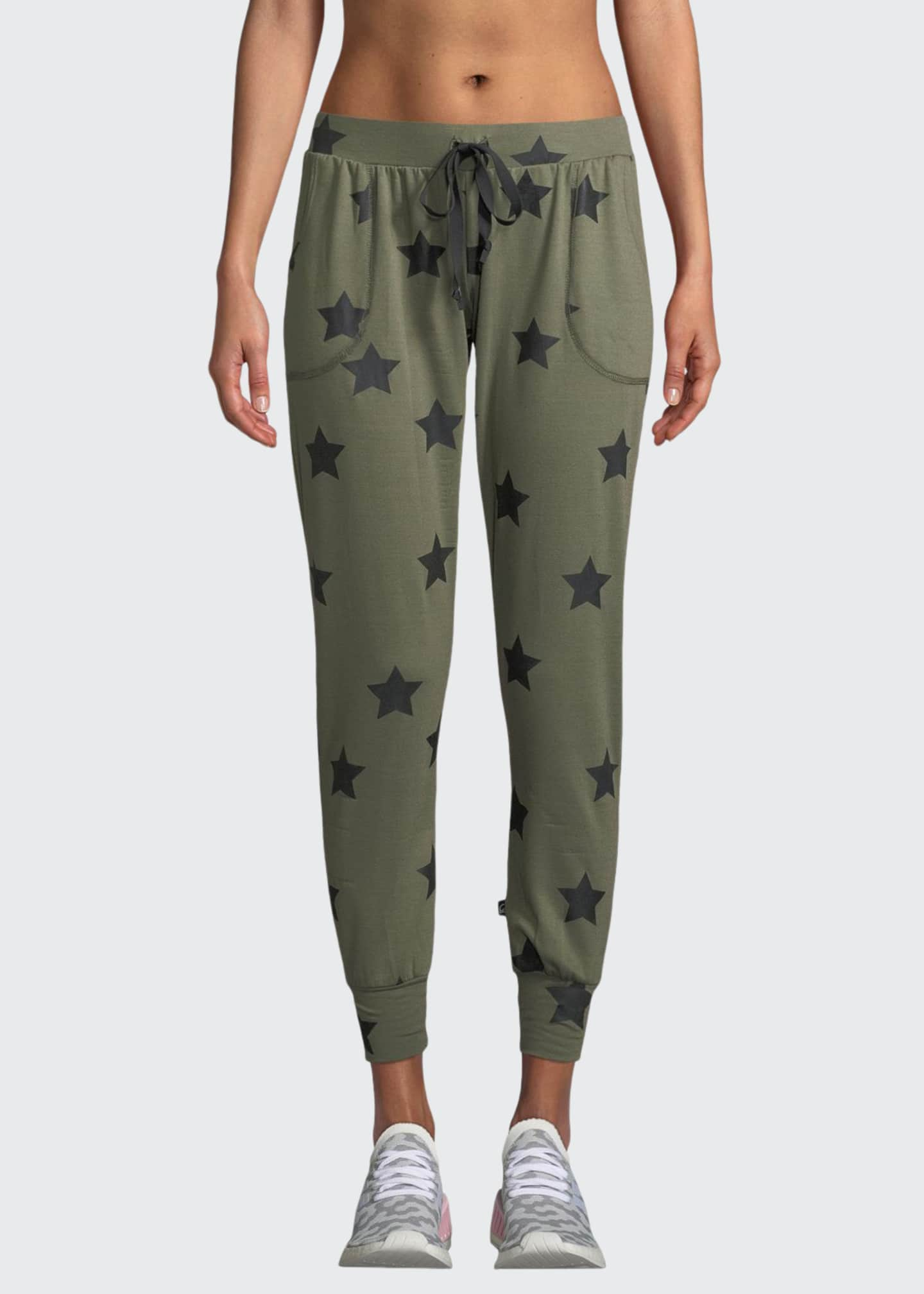 Terez Star-Print Drawstring Jogger Pants