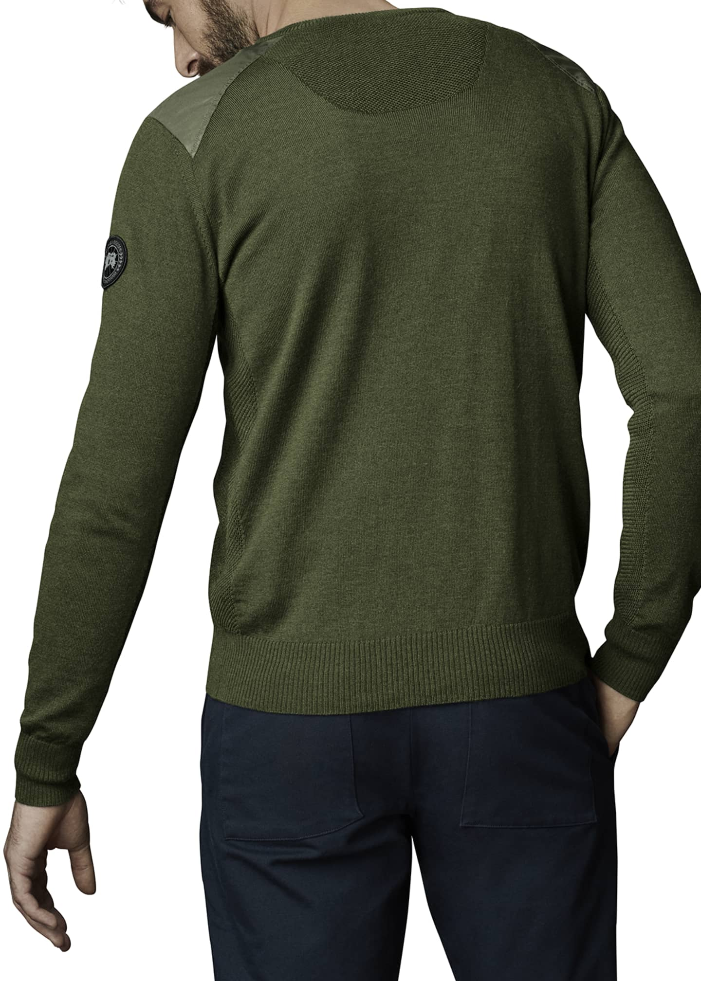 Image 2 of 2: McLeod V-Neck Sweater w/ Nylon Shoulders