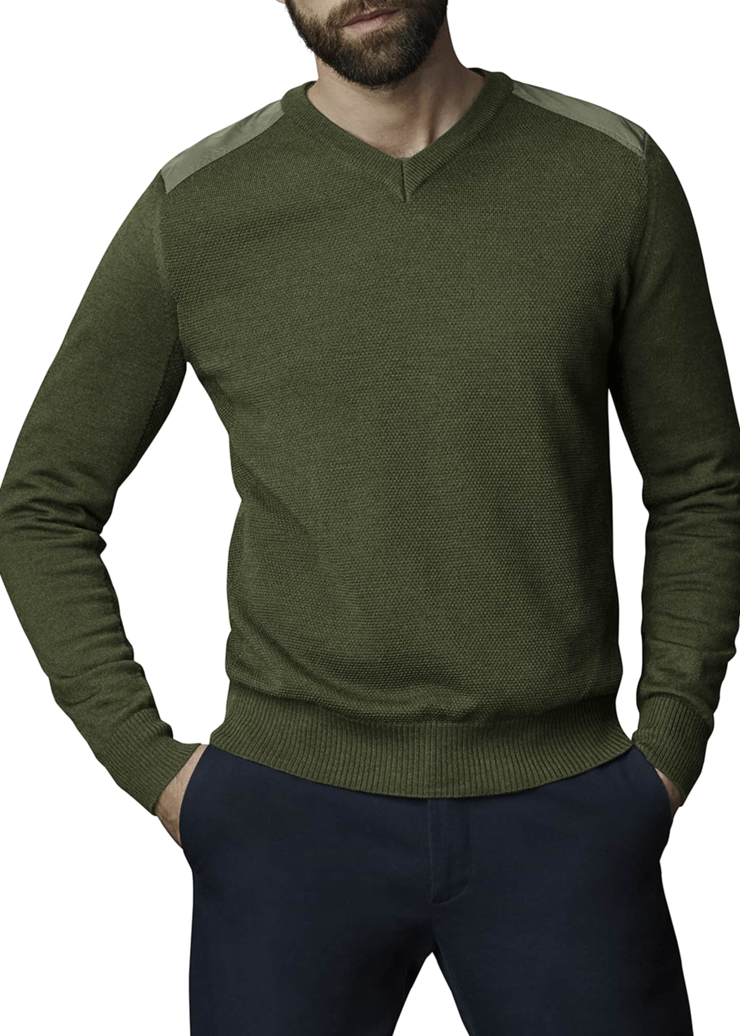 Image 1 of 2: McLeod V-Neck Sweater w/ Nylon Shoulders