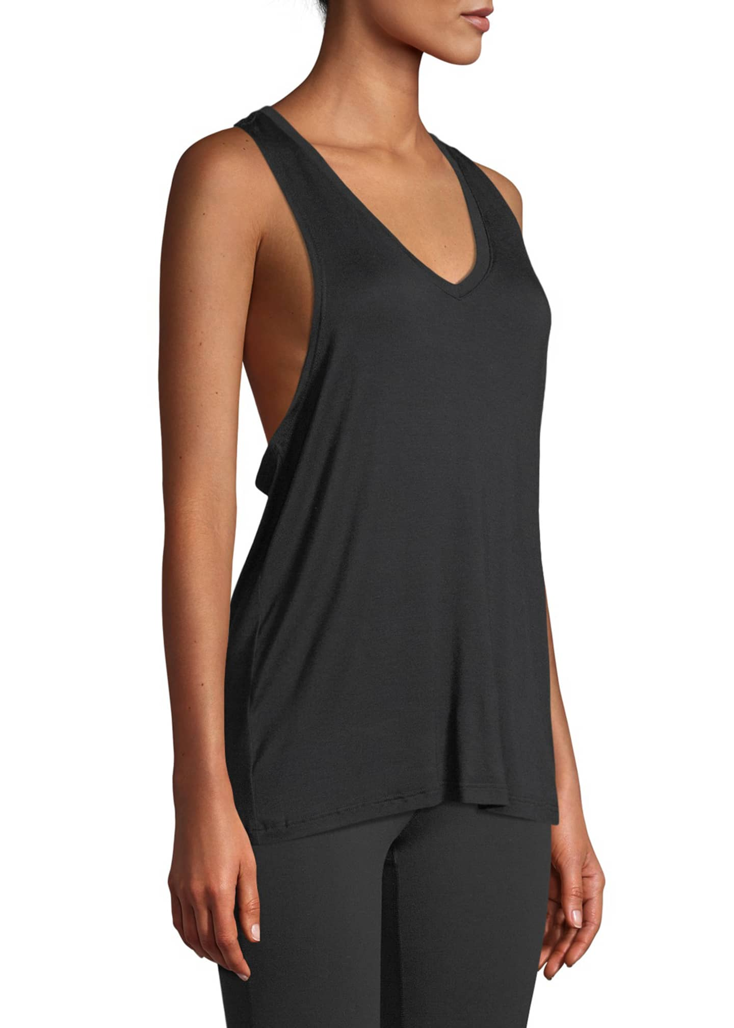 Image 3 of 4: Twisted Racerback Activewear Tank