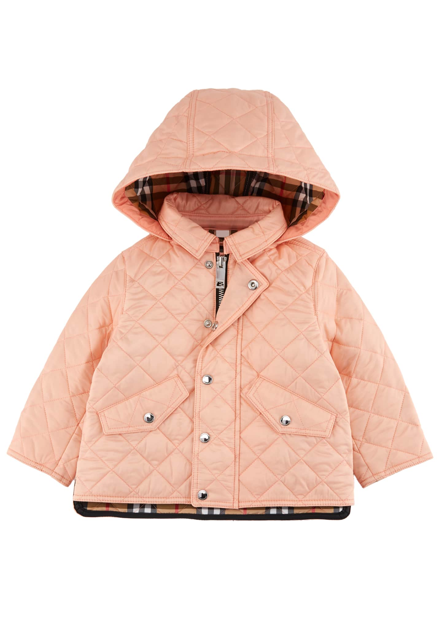Burberry Ilana Quilted Hooded Coat, Size 12M-3