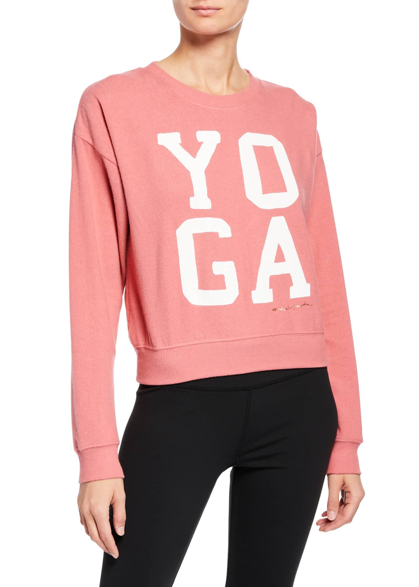 Spiritual Gangster Yoga Malibu Crewneck Pullover Sweater