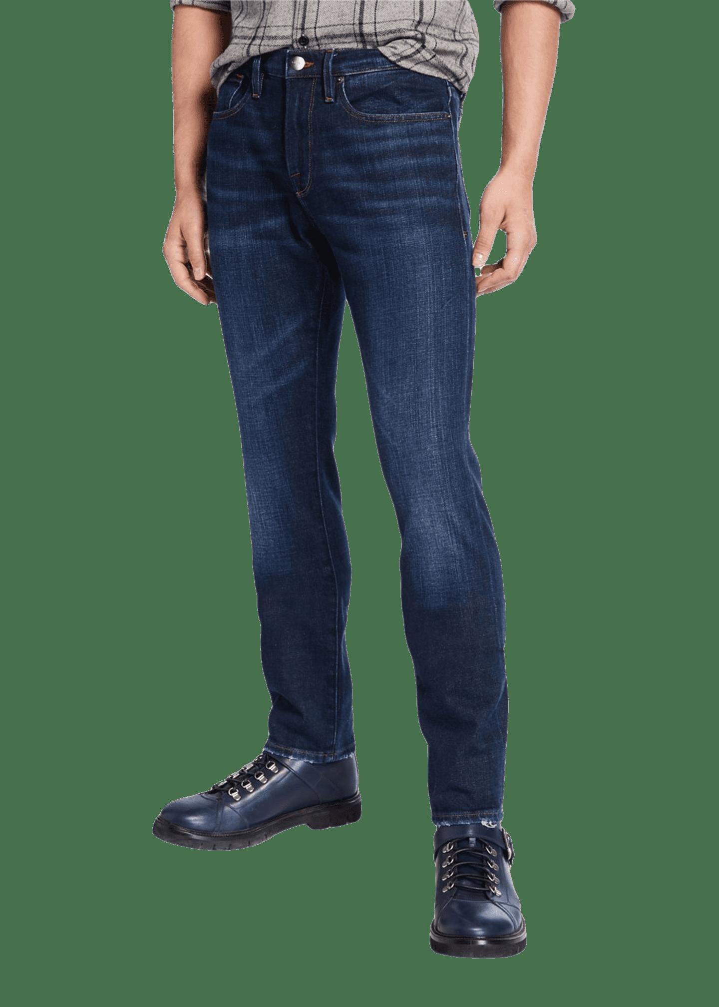 FRAME Men's L'Homme Slim Pullman Ripped-Knee Jeans
