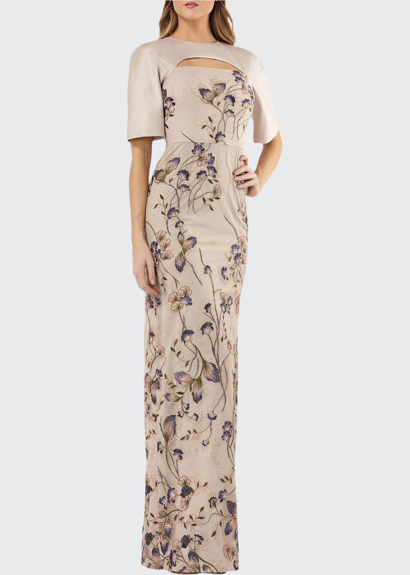 Kay Unger New York Cutout Mikado & Lace