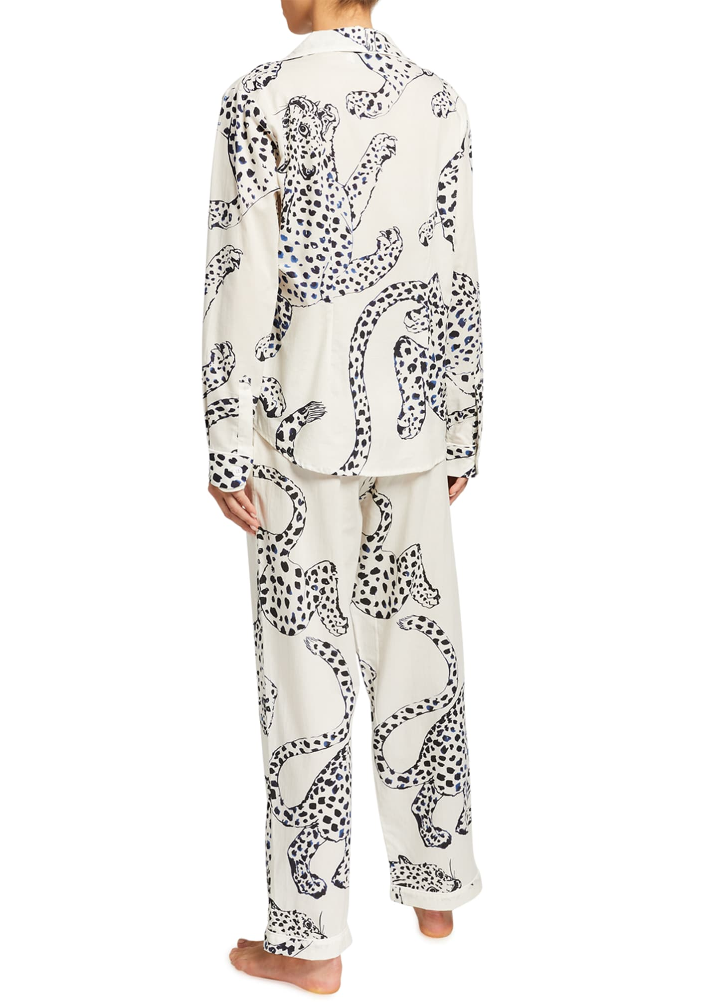 Image 2 of 2: Large Leopard Long-Sleeve Pajama Set