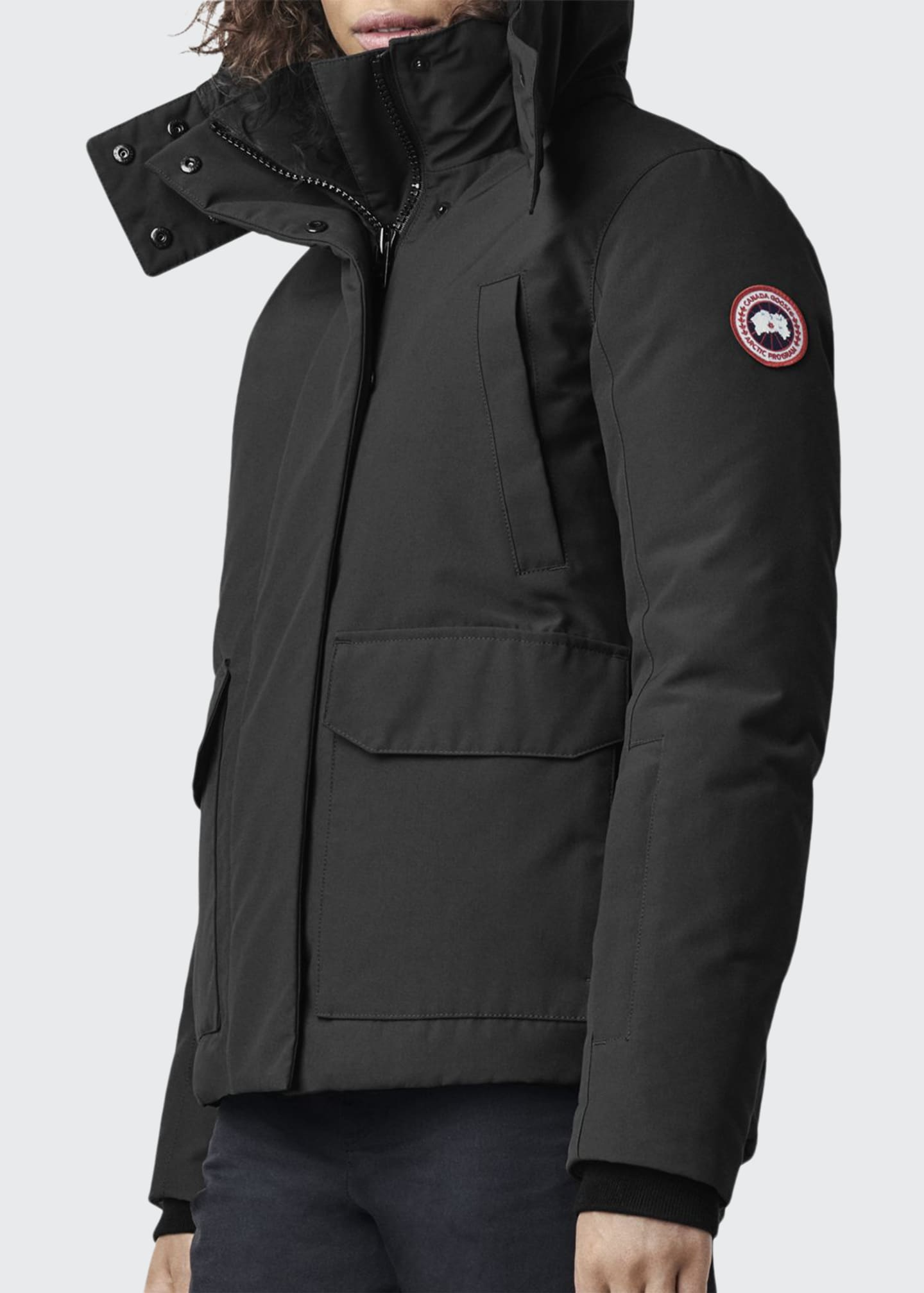 Canada Goose Blakely Hip-Length Parka w/ Detachable Hood