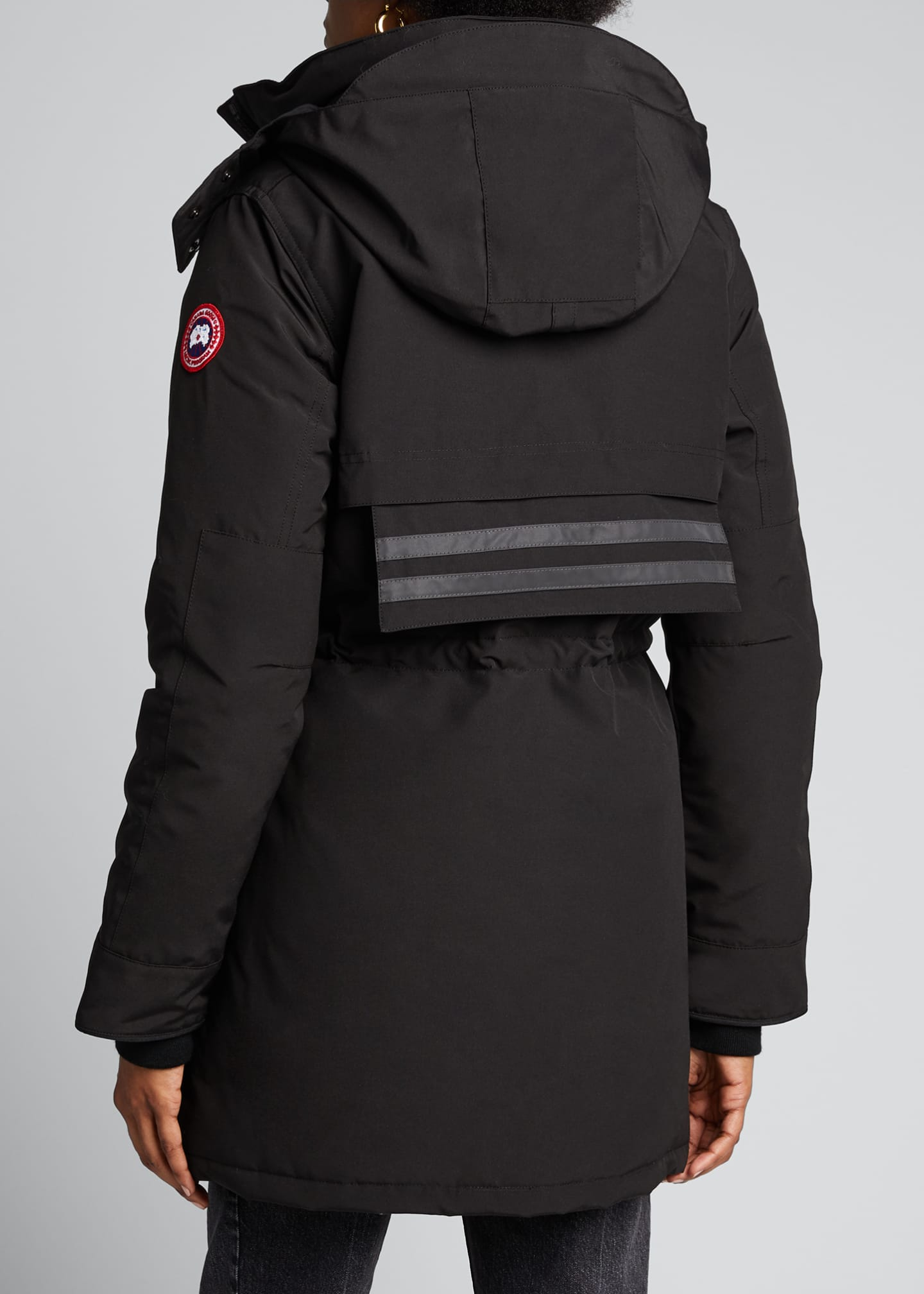Image 2 of 5: Gabriola Hooded Parka Coat w/ Reflective Back