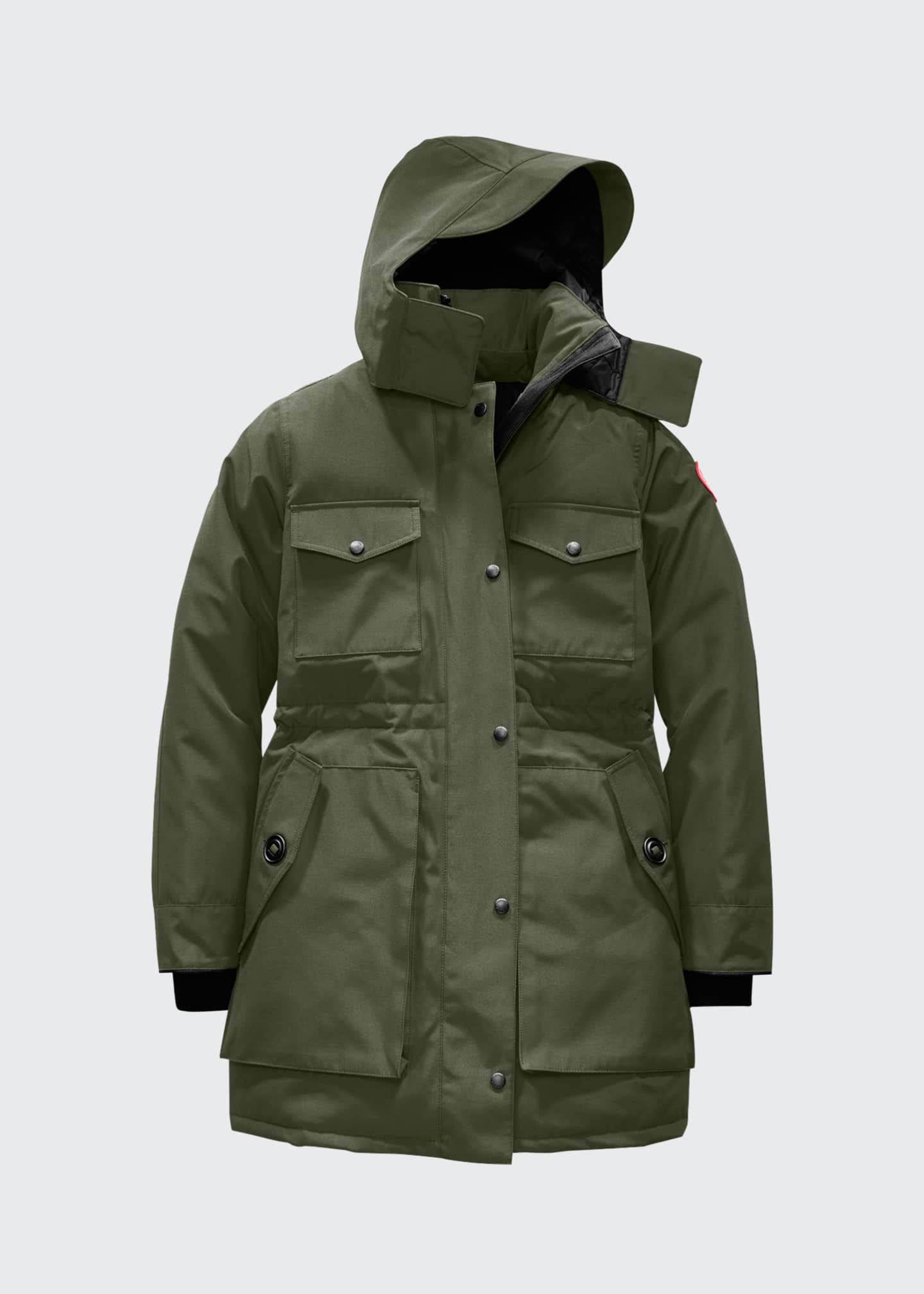 Image 5 of 5: Gabriola Hooded Parka Coat w/ Reflective Back