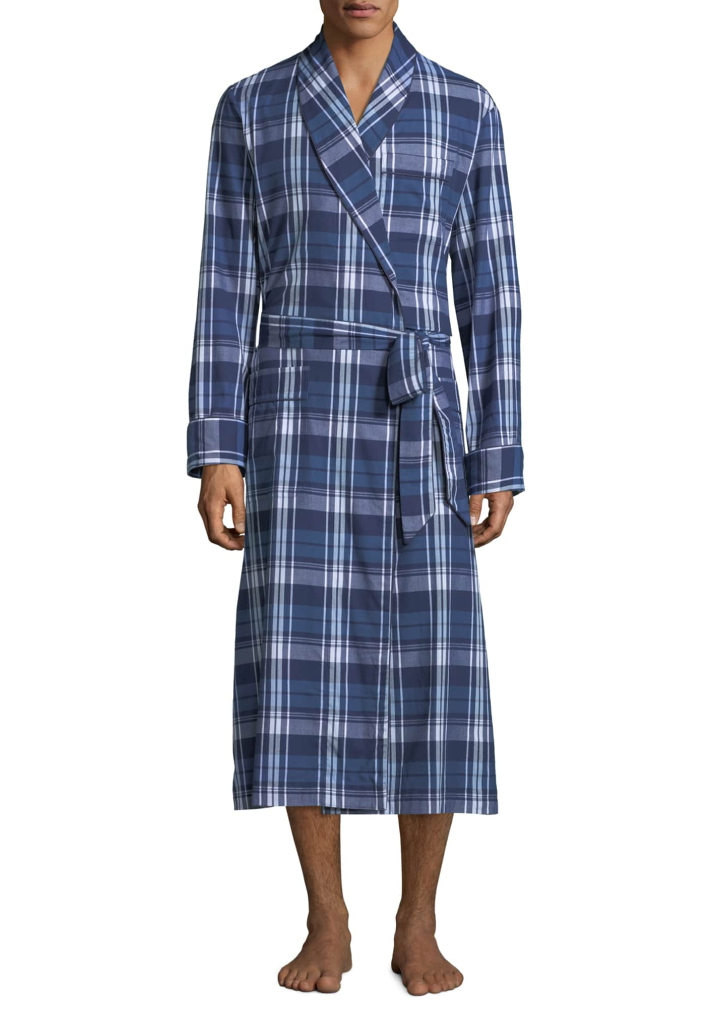 Derek Rose Men's Ranga 31 Long Plaid Cotton