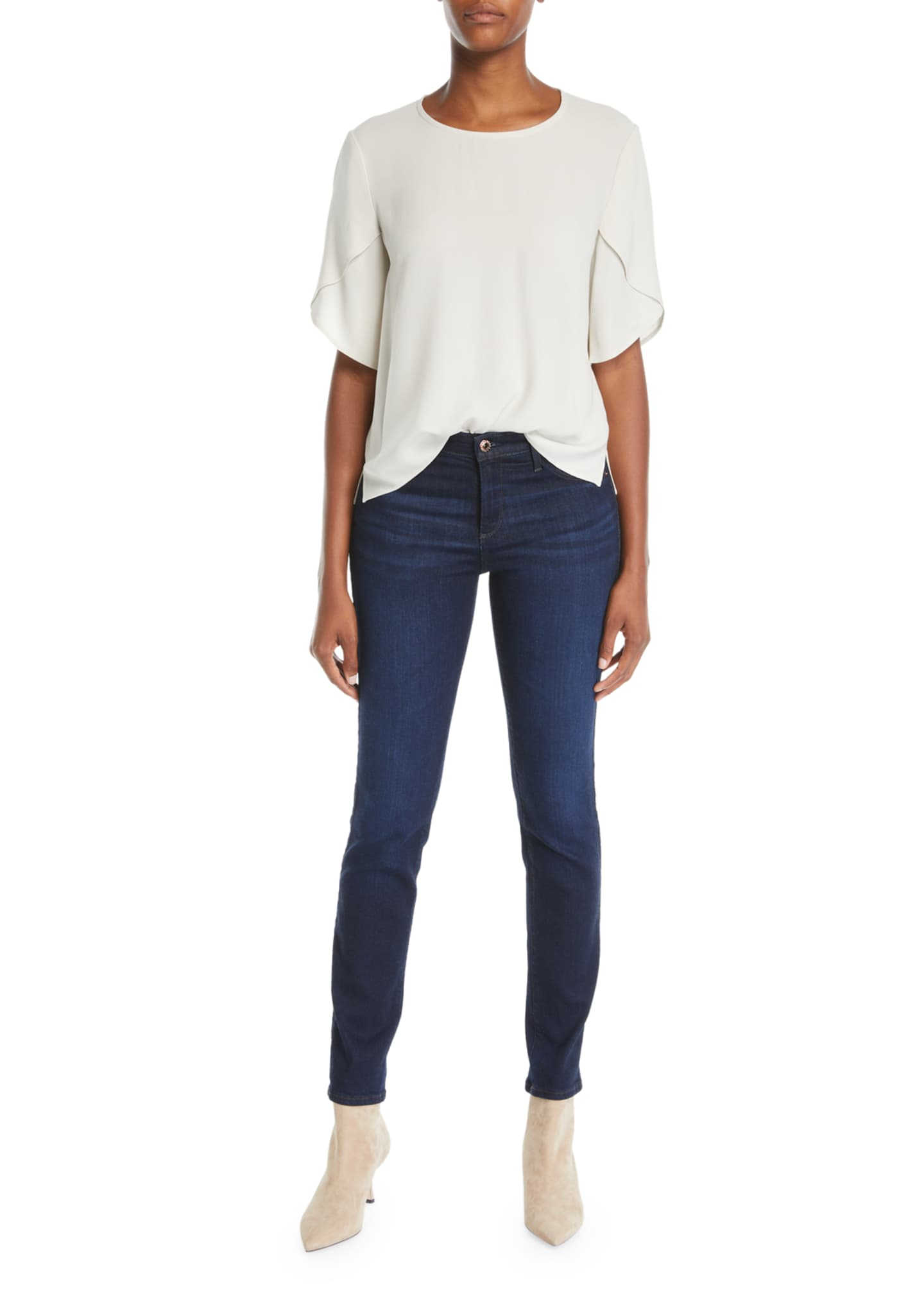 Image 3 of 3: Prima Mid-Rise Ankle Cigarette Jeans